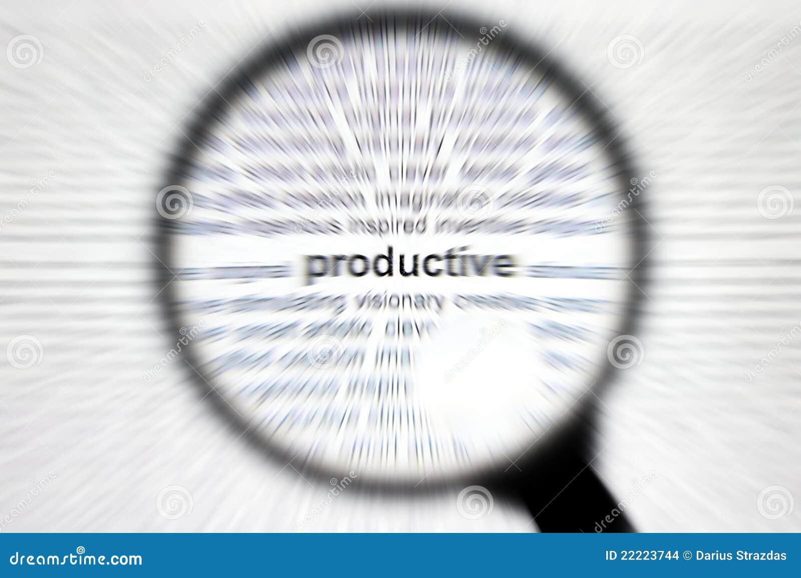 企业集中有生产力概念的重点