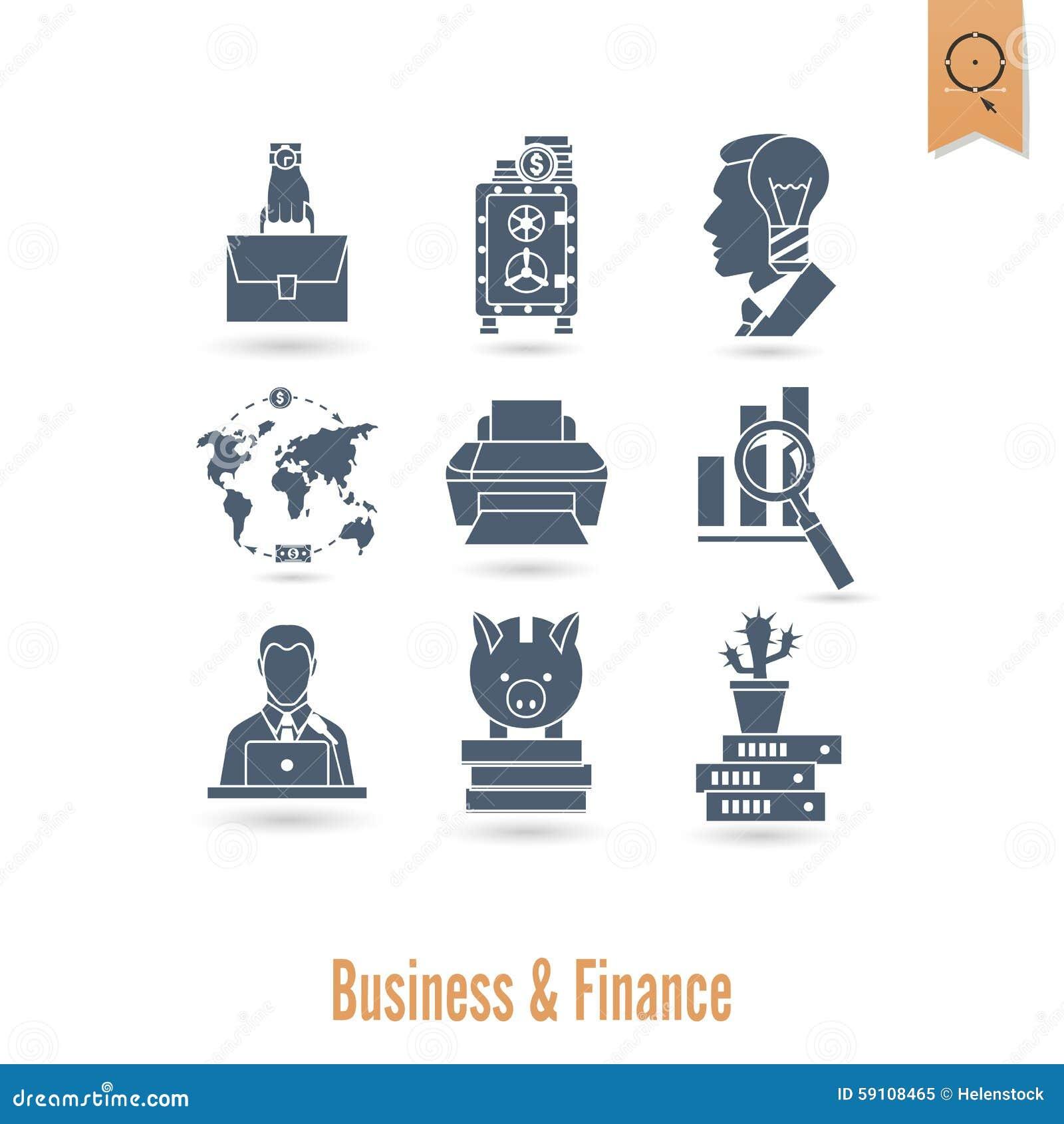 企业财务图标集