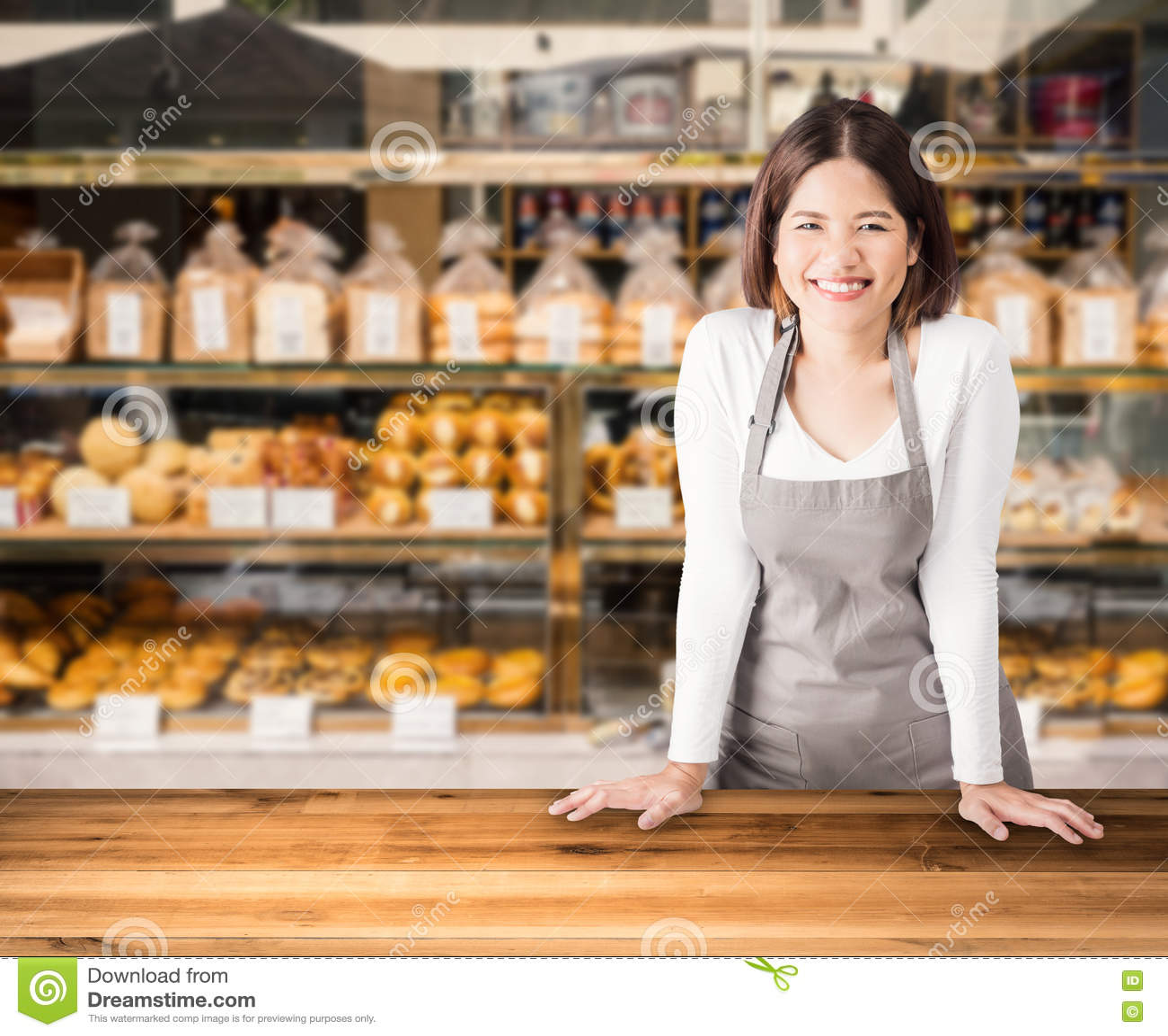 企业主有面包店商店背景