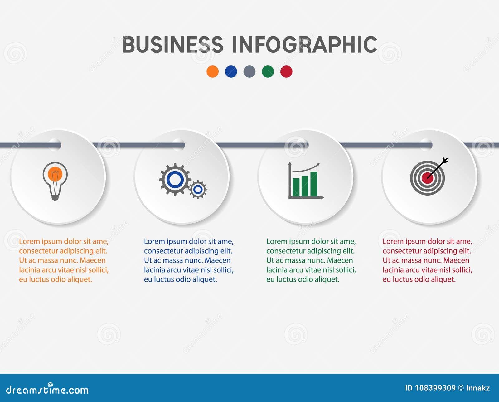 企业infographic模板