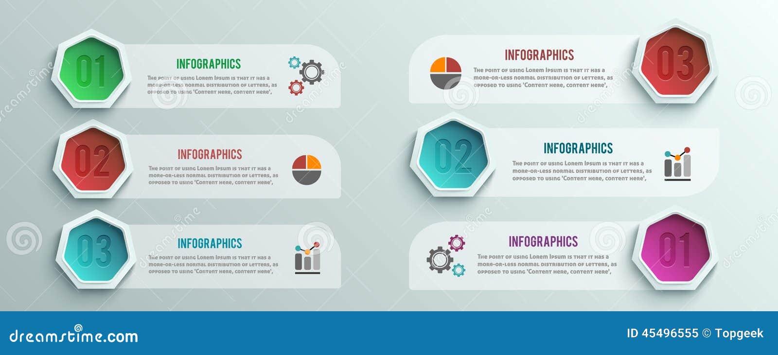 企业infographics横幅origami样式