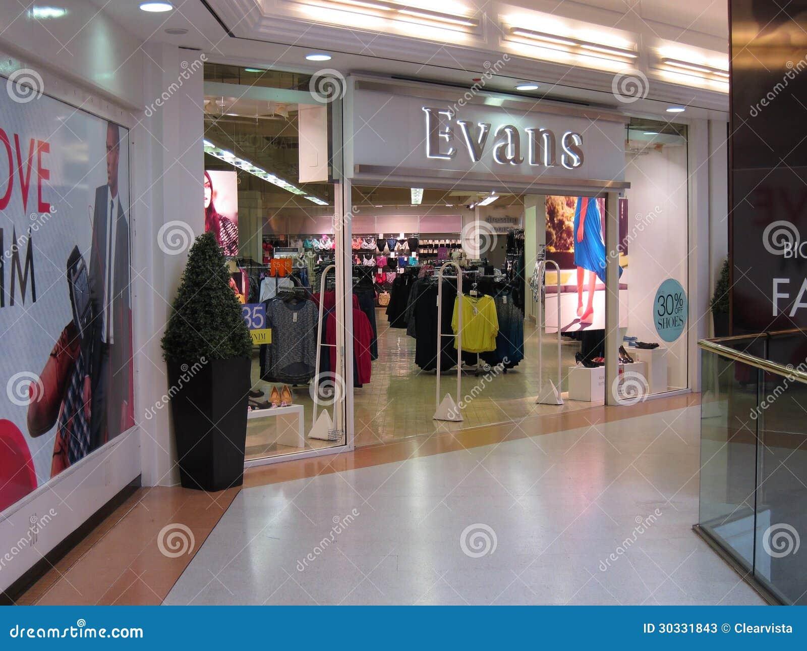 伊万斯服装店。