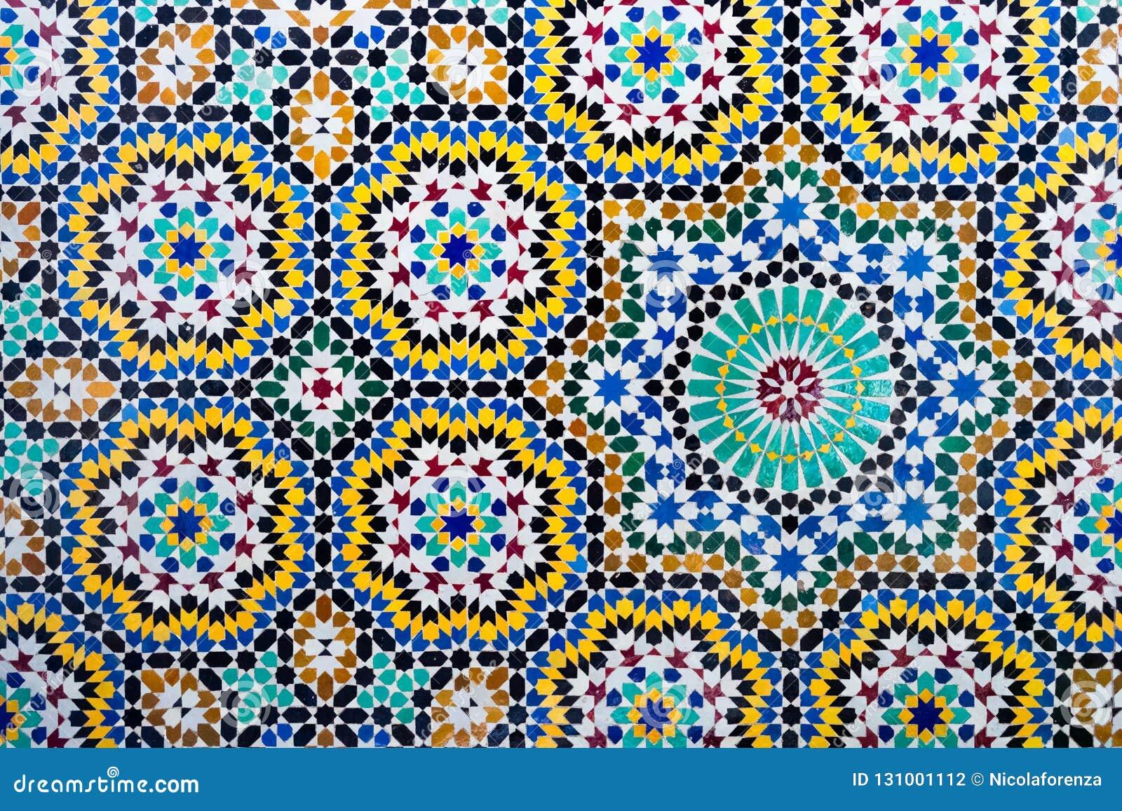 伊斯兰教的马赛克摩洛哥样式有用作为背景