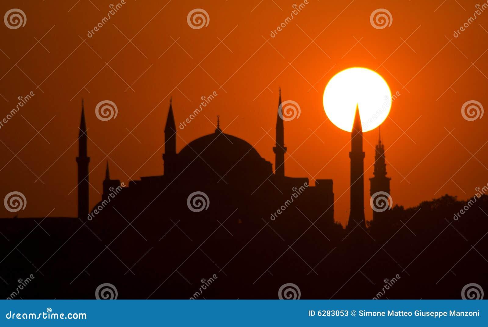伊斯坦布尔suleymaniye日落