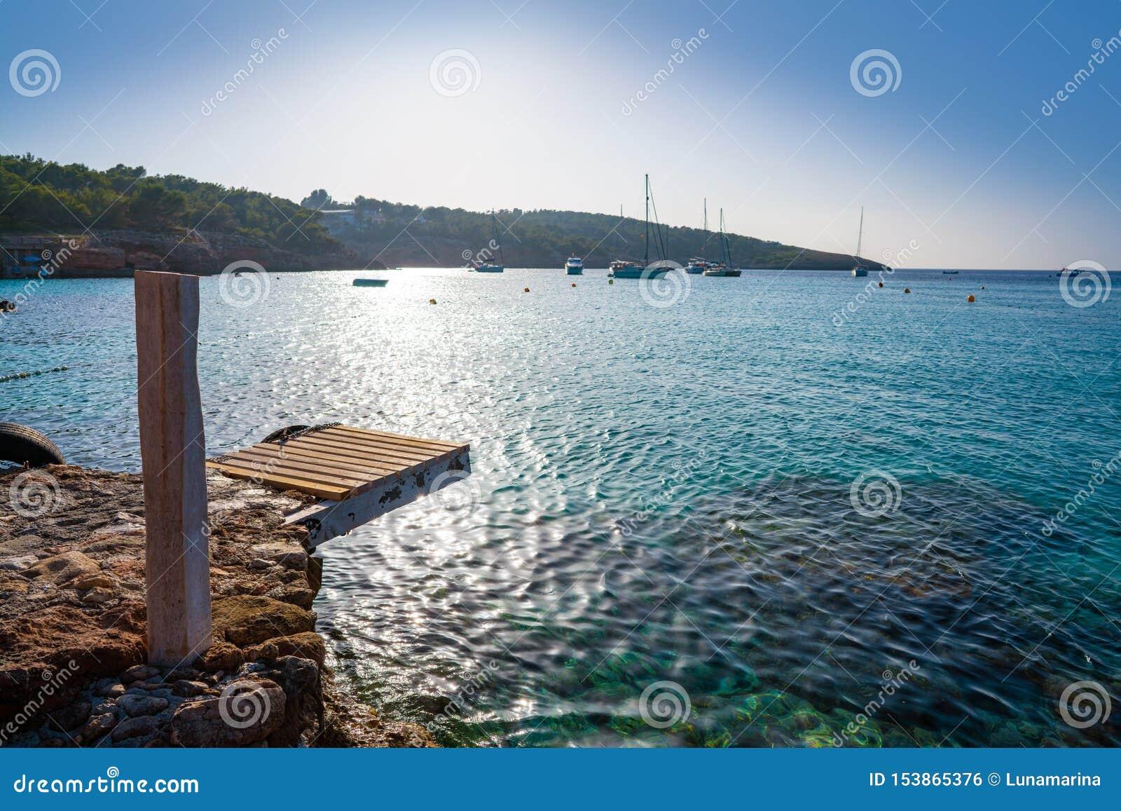 伊维萨岛Portinatx阿雷纳尔Gran海滩在Balearics