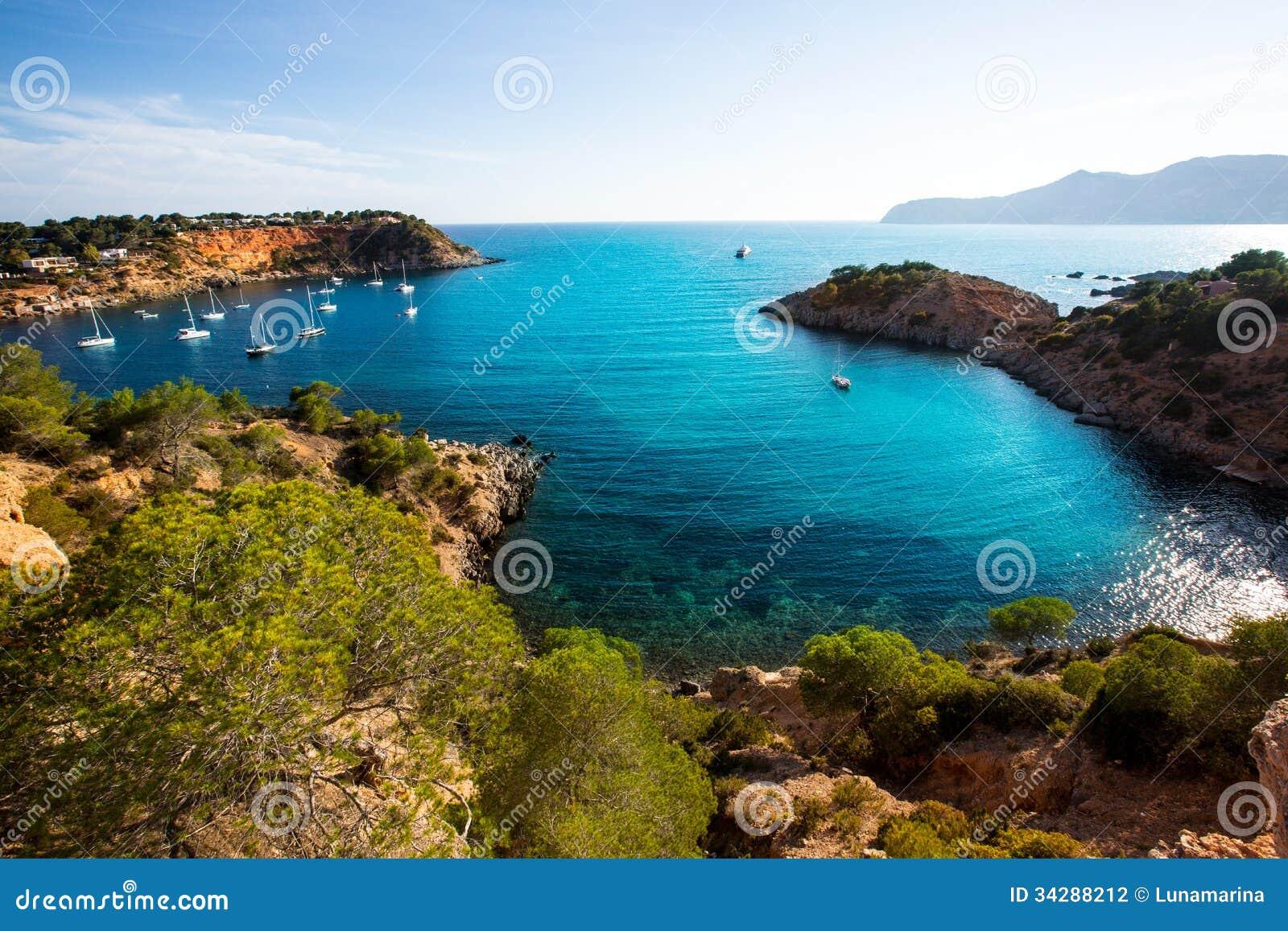 伊维萨岛ES Porroig也端起罗伊格景色在拜雷阿尔斯