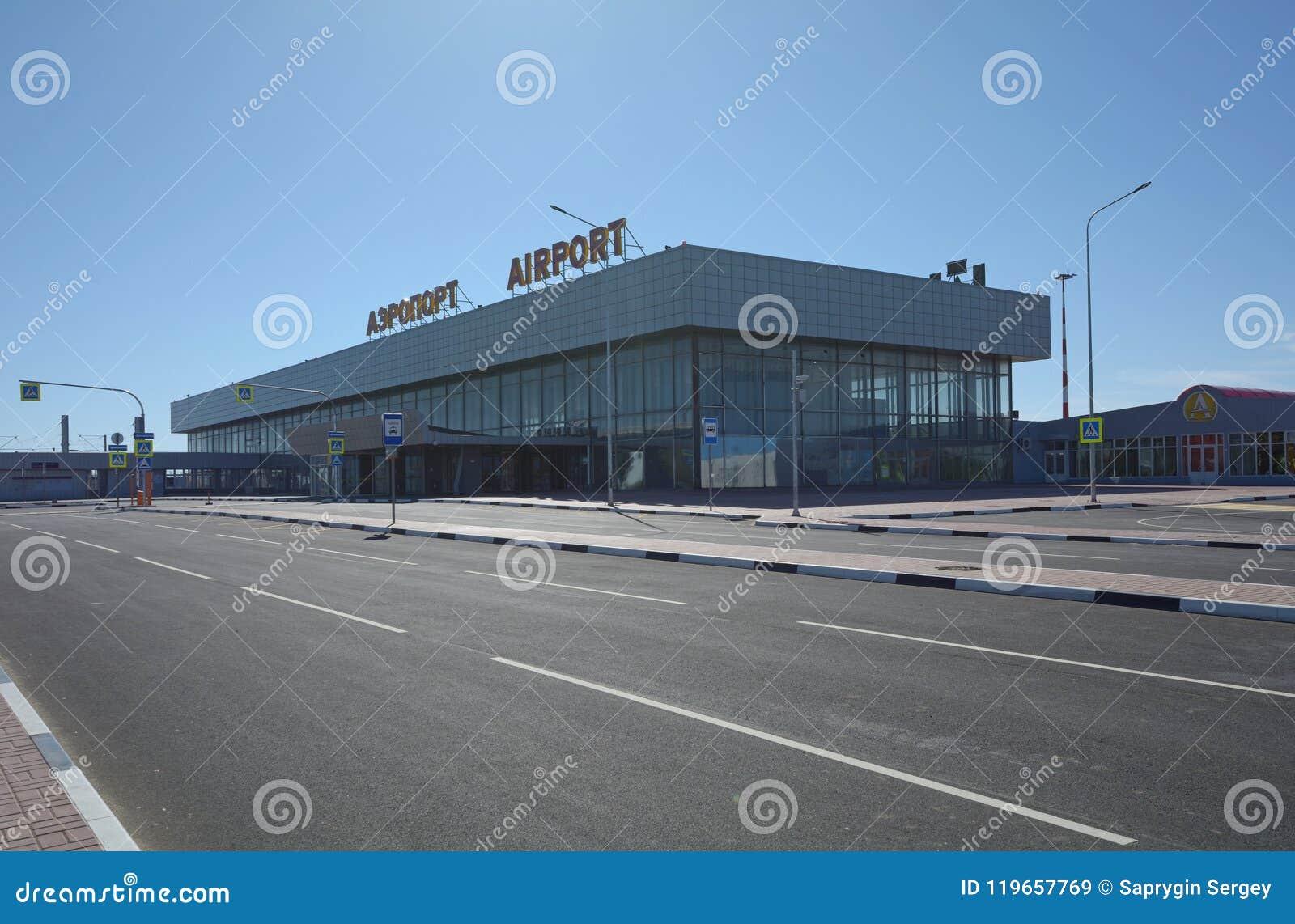 伏尔加格勒,俄罗斯- 2018年5月28日:Gumrak国际机场