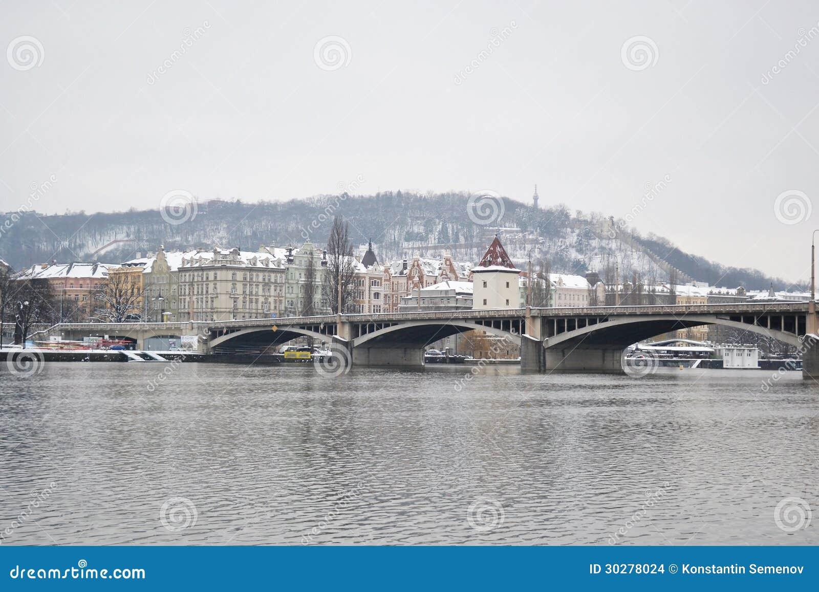伏尔塔瓦河河的看法在布拉格
