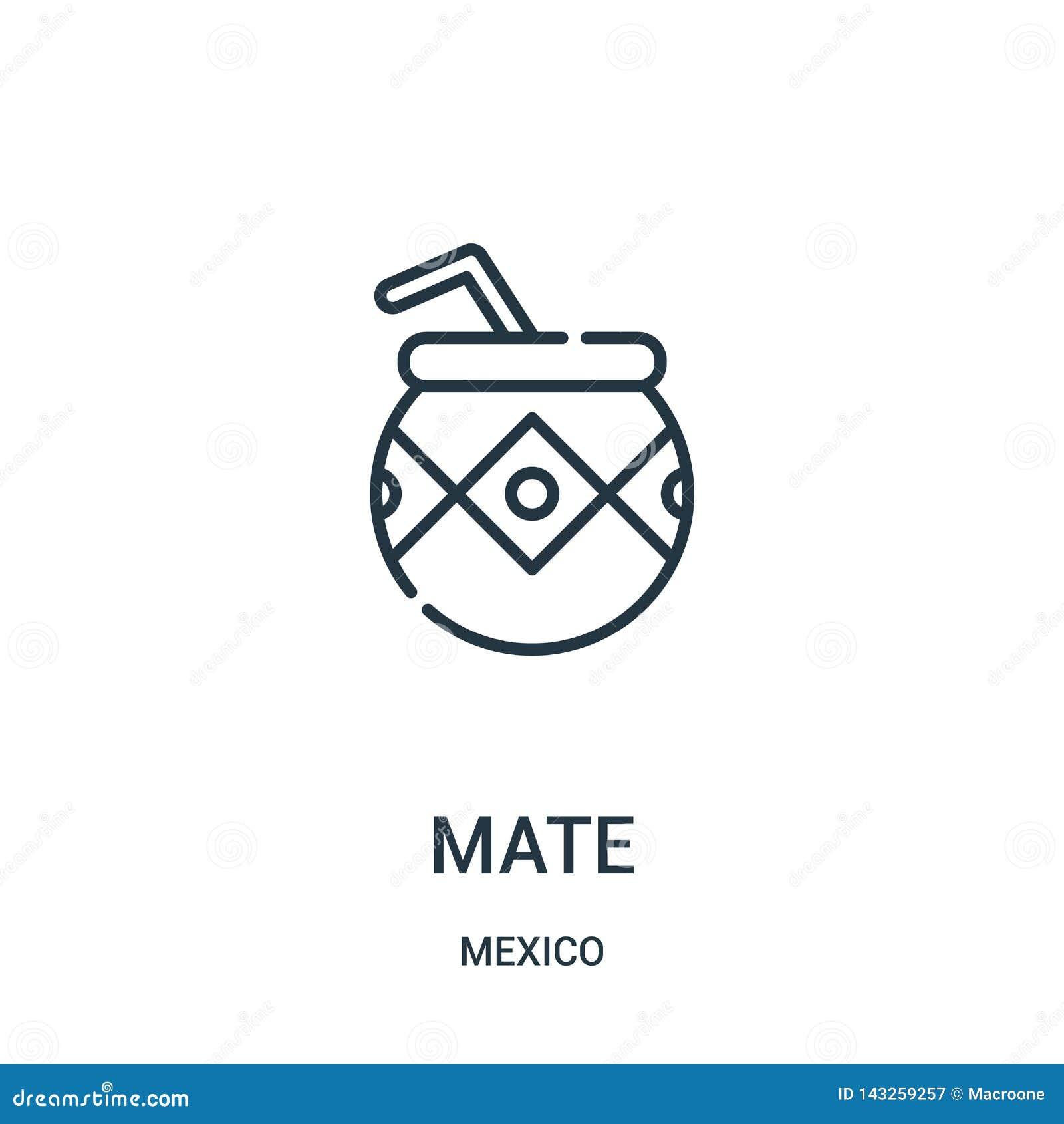 伙伴从墨西哥汇集的象传染媒介 稀薄的线伙伴概述象传染媒介例证