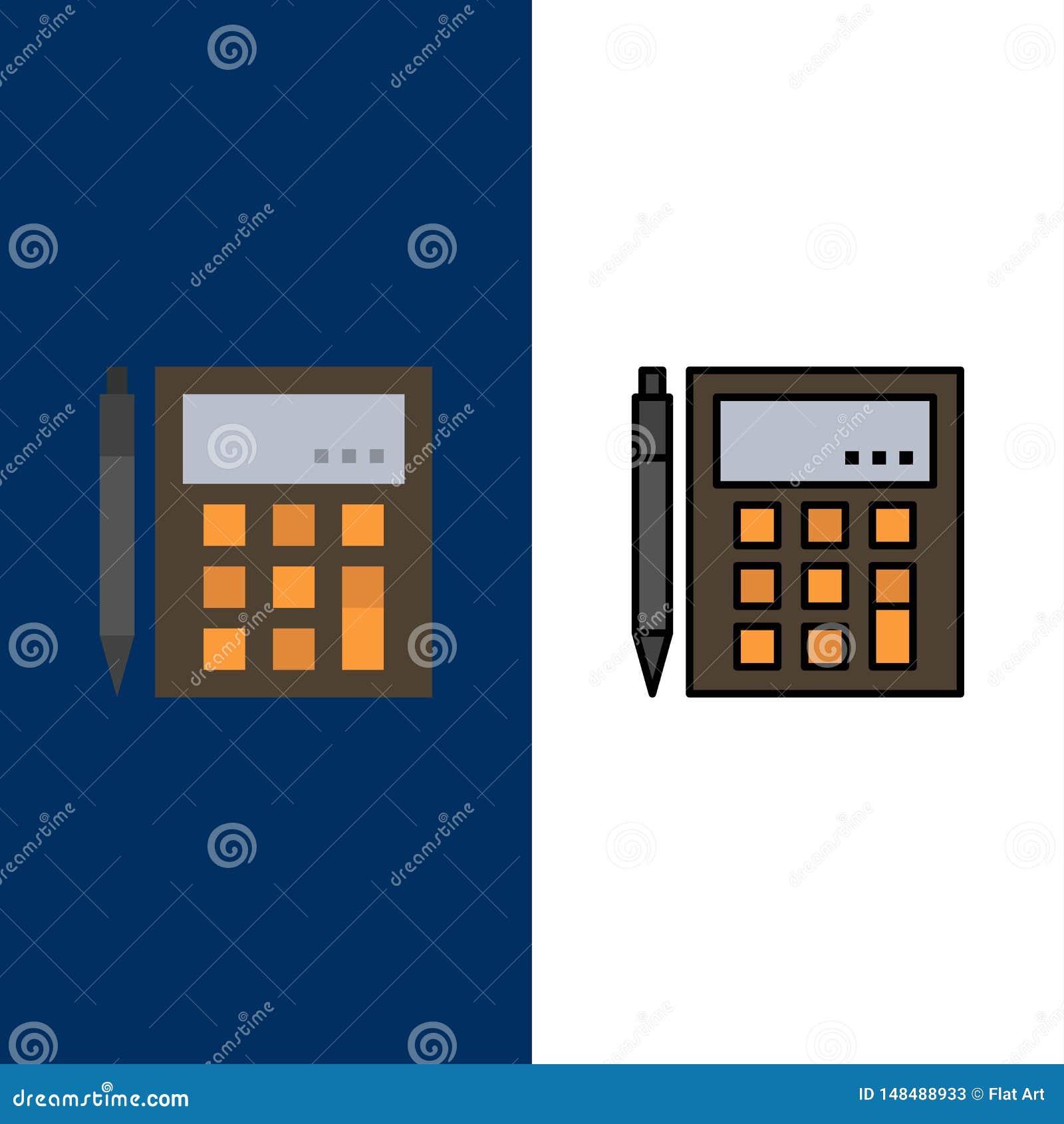 会计,帐户,计算,演算,计算器,财政,算术象 舱内甲板和线被填装的象集合传染媒介蓝色