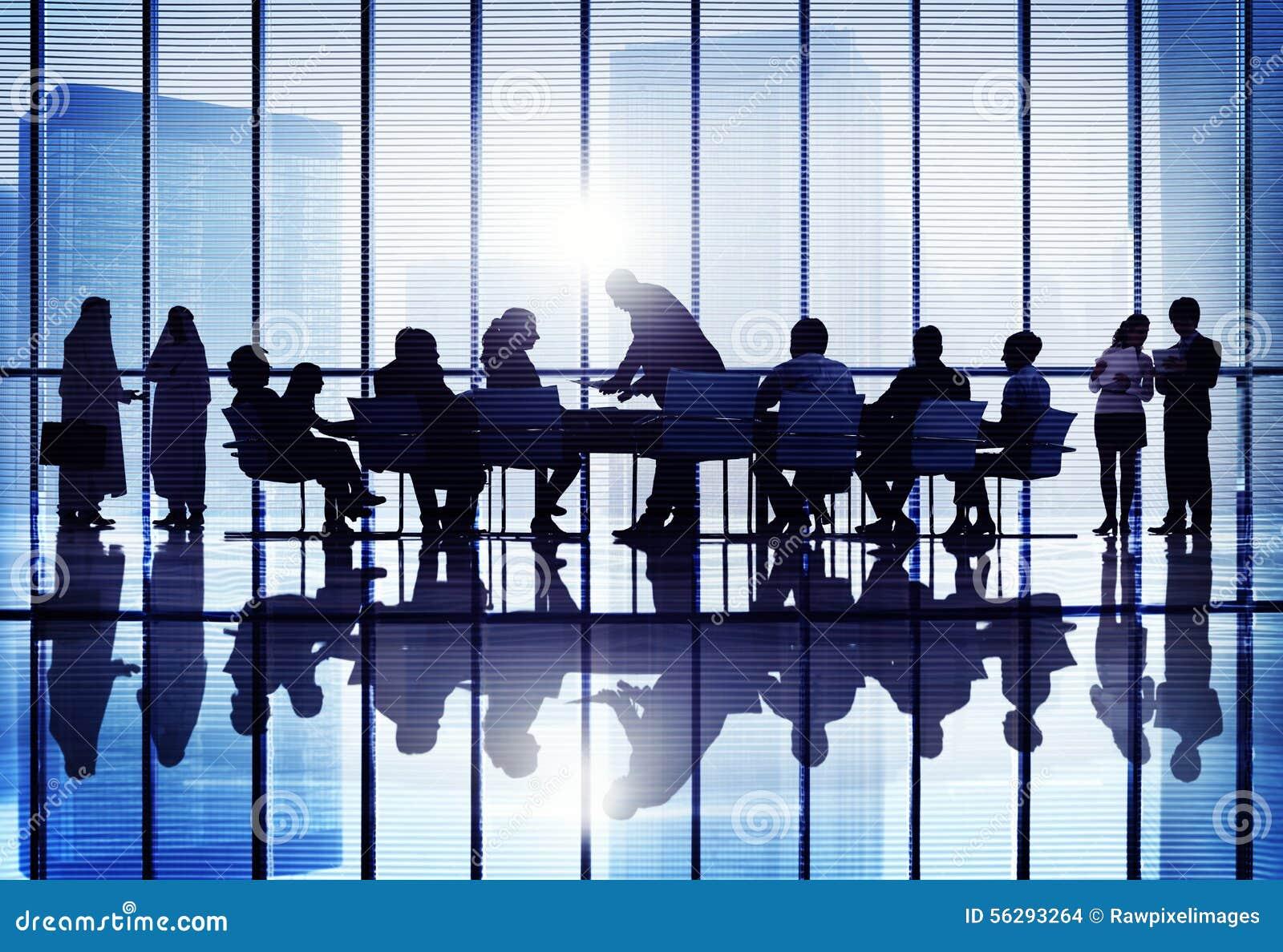 会议研讨会会议企业合作队概念