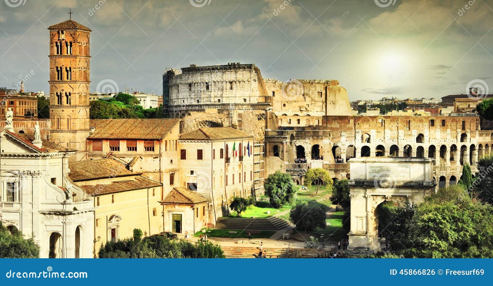 伟大的古色古香的罗马