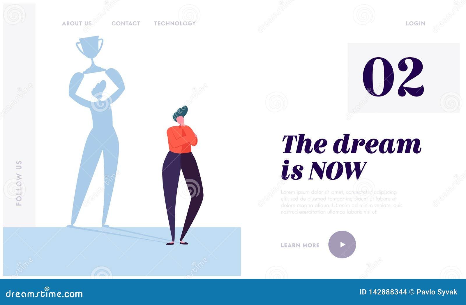 伟大的梦想登陆的页 字符想象理想的生活 r 必要的刺激和自我训练