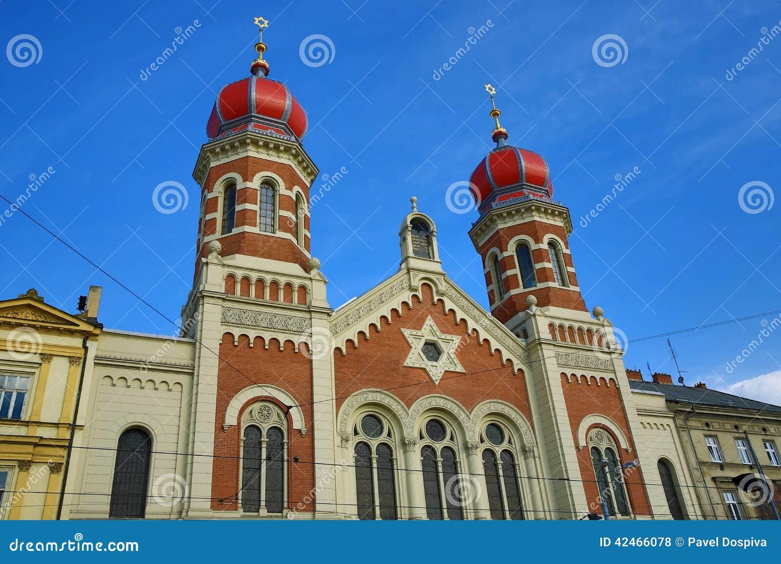 伟大的犹太教堂, od建筑学, Pilsen,捷克