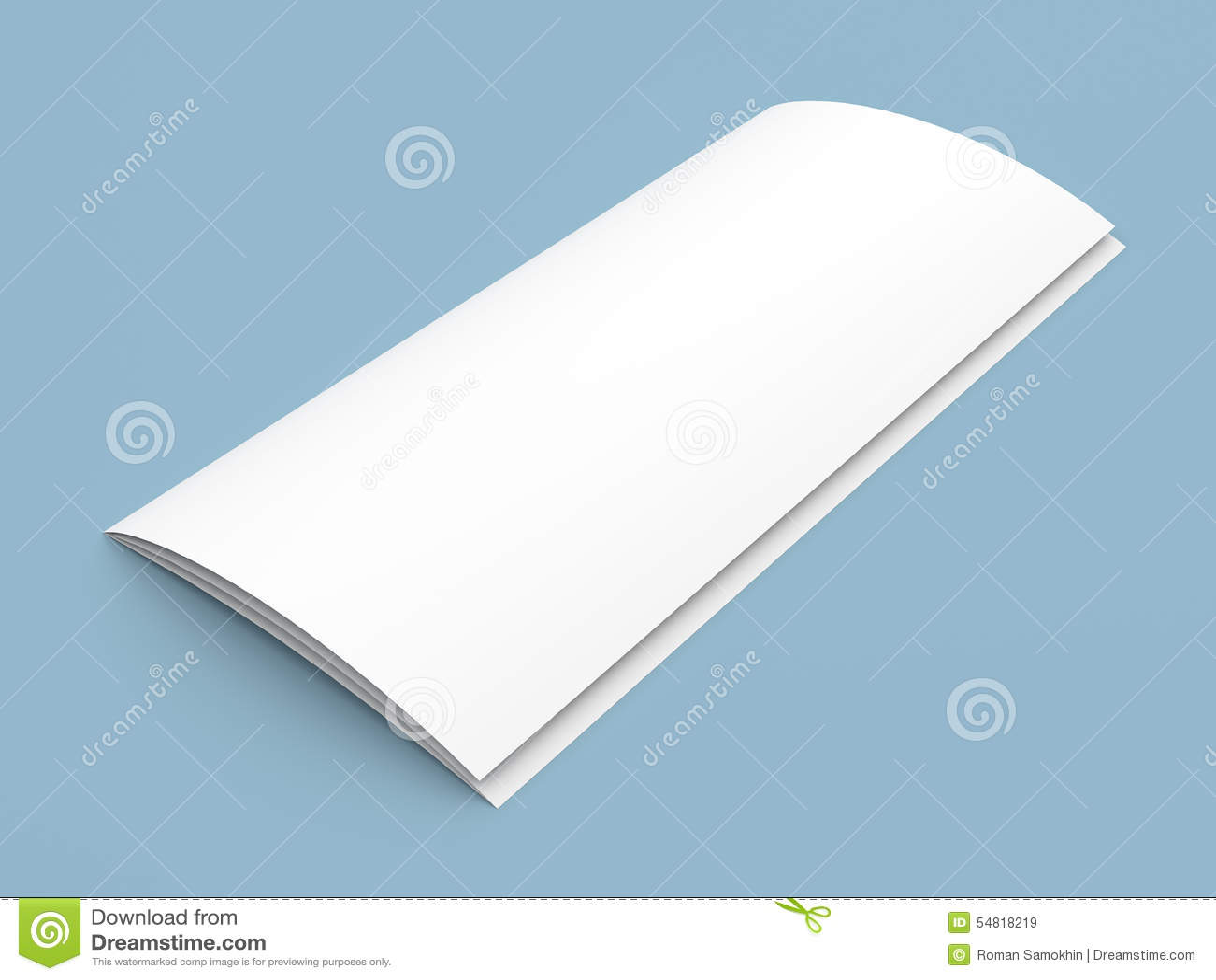 传单空白的三部合成的白皮书小册子