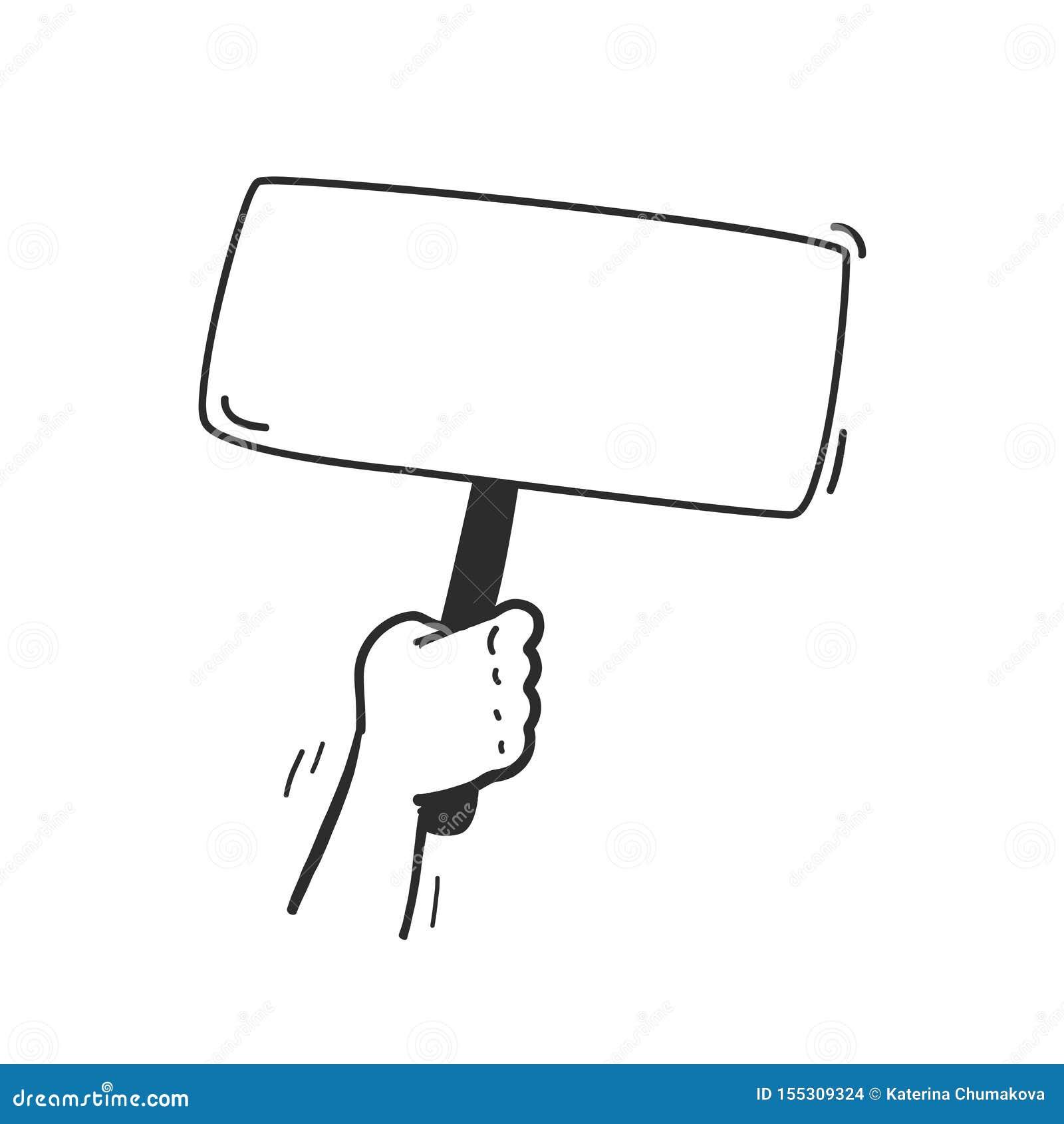 传染媒介与人的在白色背景隔绝的手举行投票的横幅箱子的表决例证