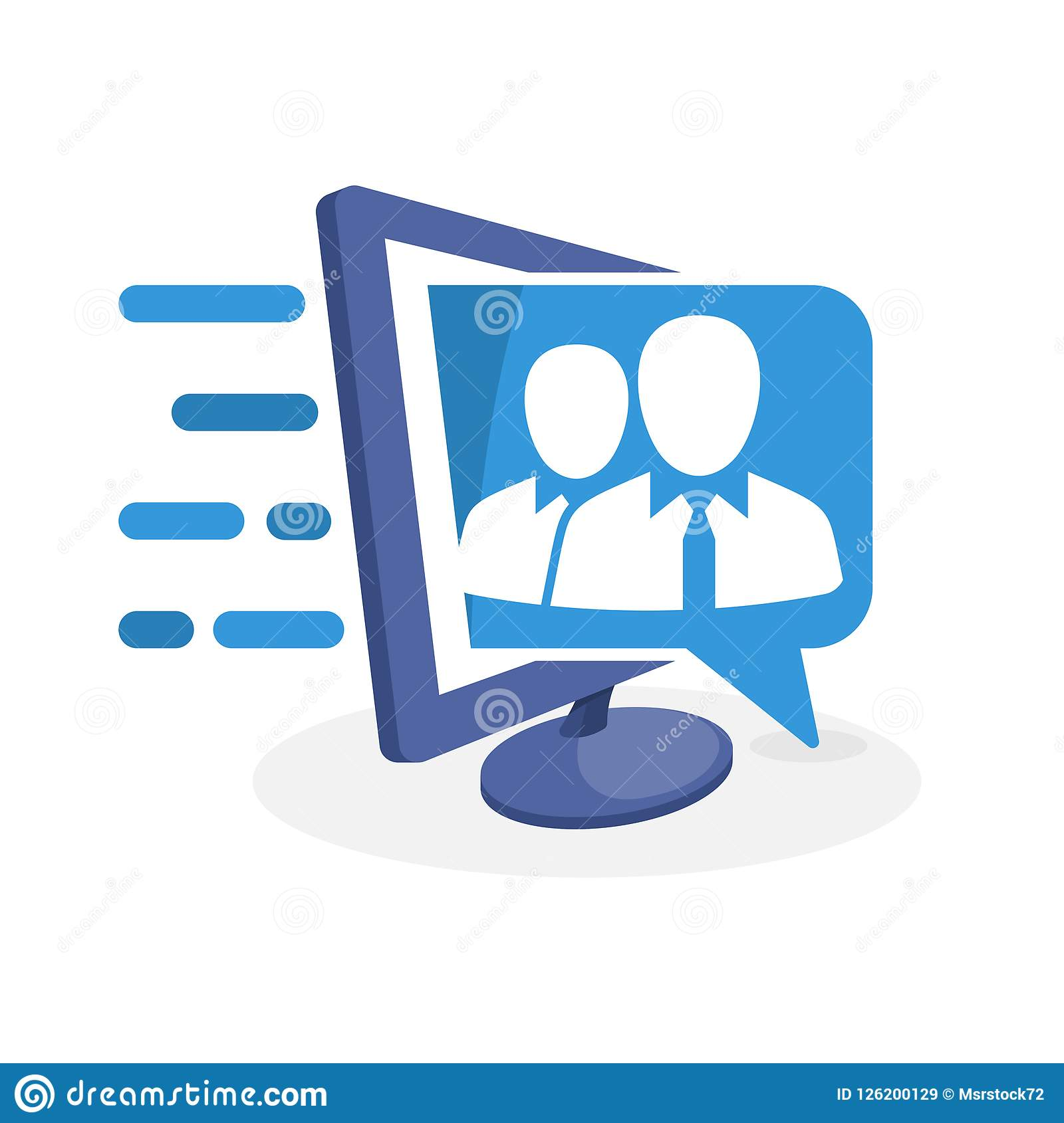 传染媒介与数字式媒介概念的象例证关于从专家小组的信息支持