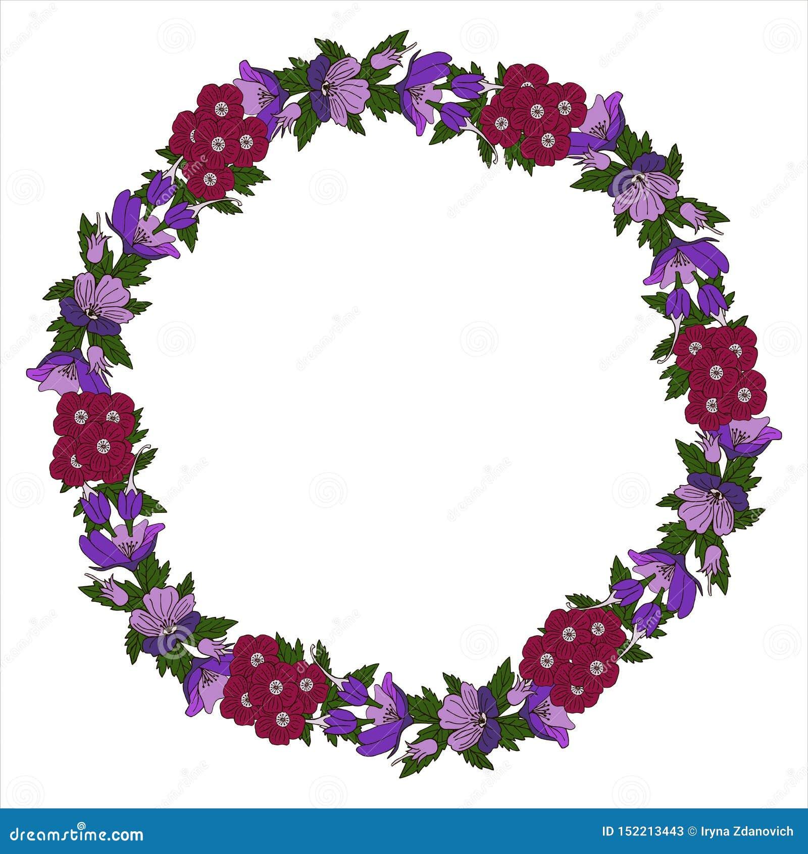 传染媒介与花卉花圈的贺卡 生日贺卡、生日和其他假日 r
