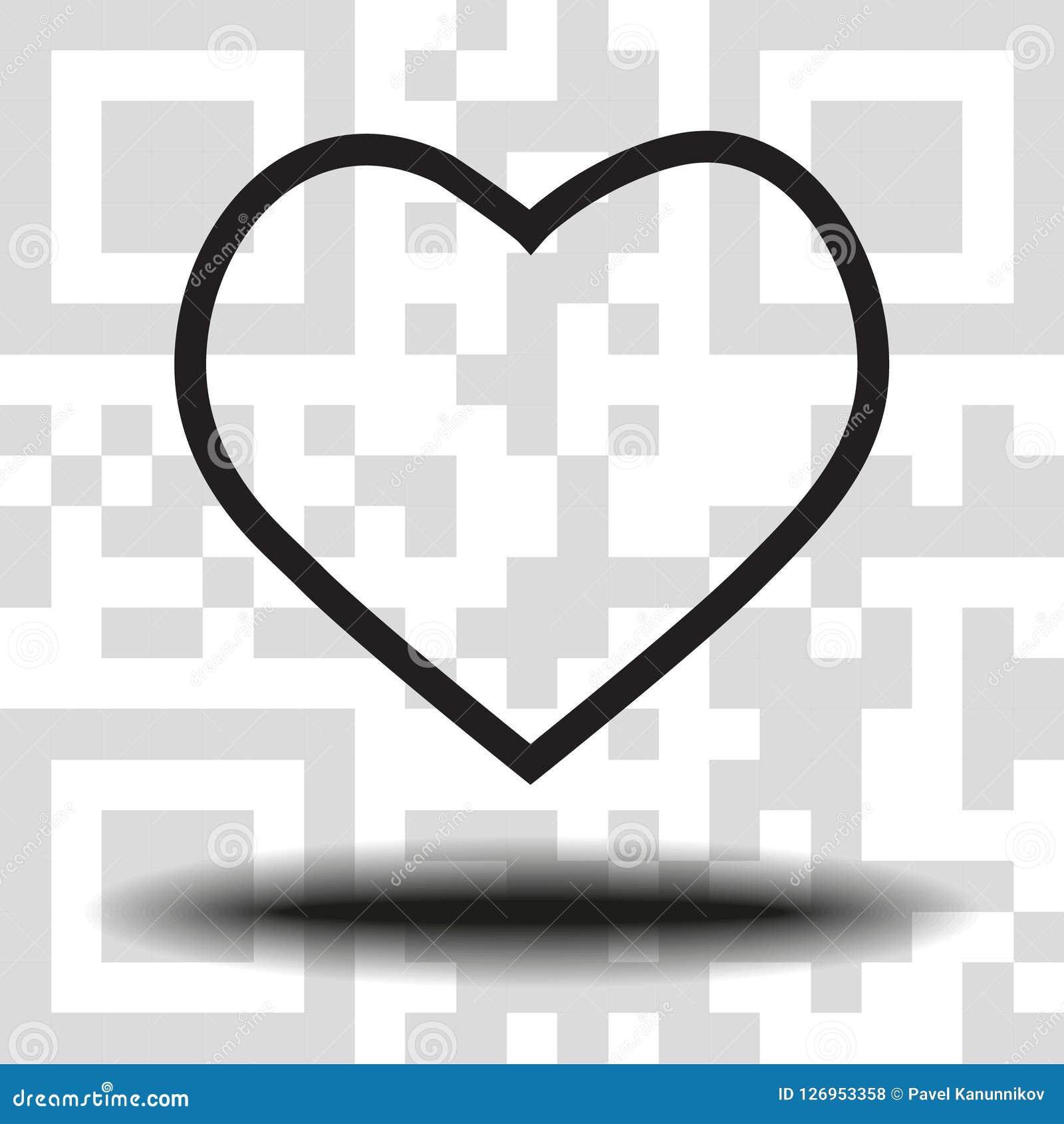 传染媒介例证网站的象心脏