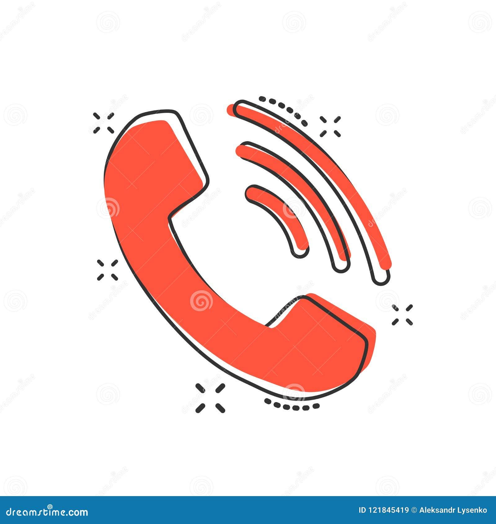 传染媒介动画片在可笑的样式的电话象 联络,支持servi
