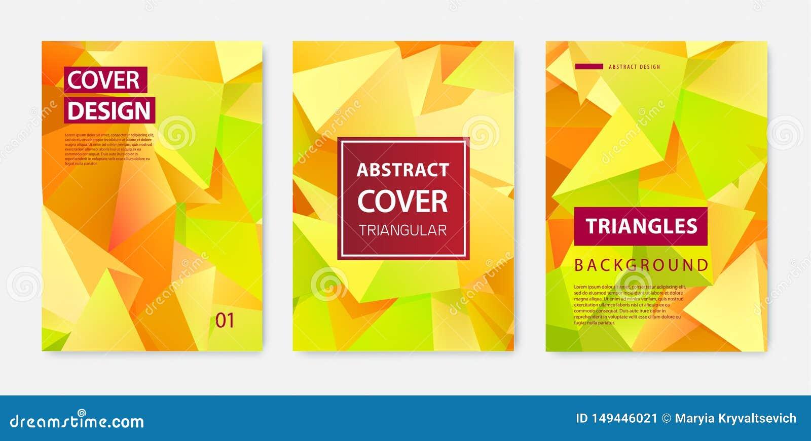 传染媒介套现代封面设计模板 几何小平面形状,抽象几何飞行物,年终报告,页