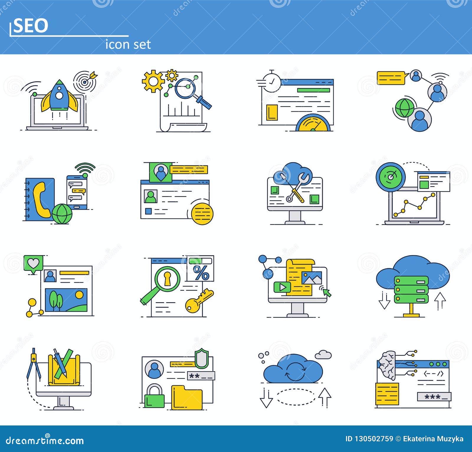 传染媒介套SEO优化和数字互联网行销 联机服务、云彩存贮和社会媒介网络