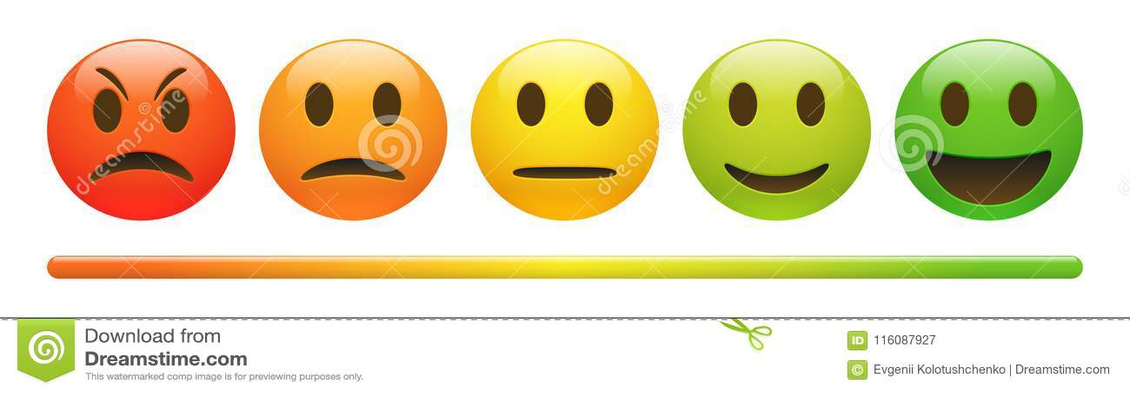 传染媒介情感在白色背景的反馈标度