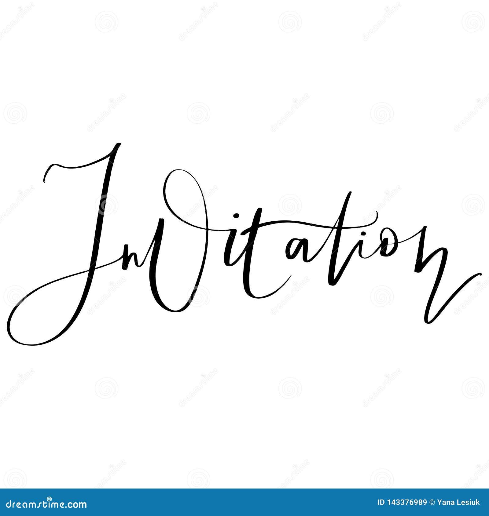 传染媒介手拉的在上写字的邀请 对婚姻的设计