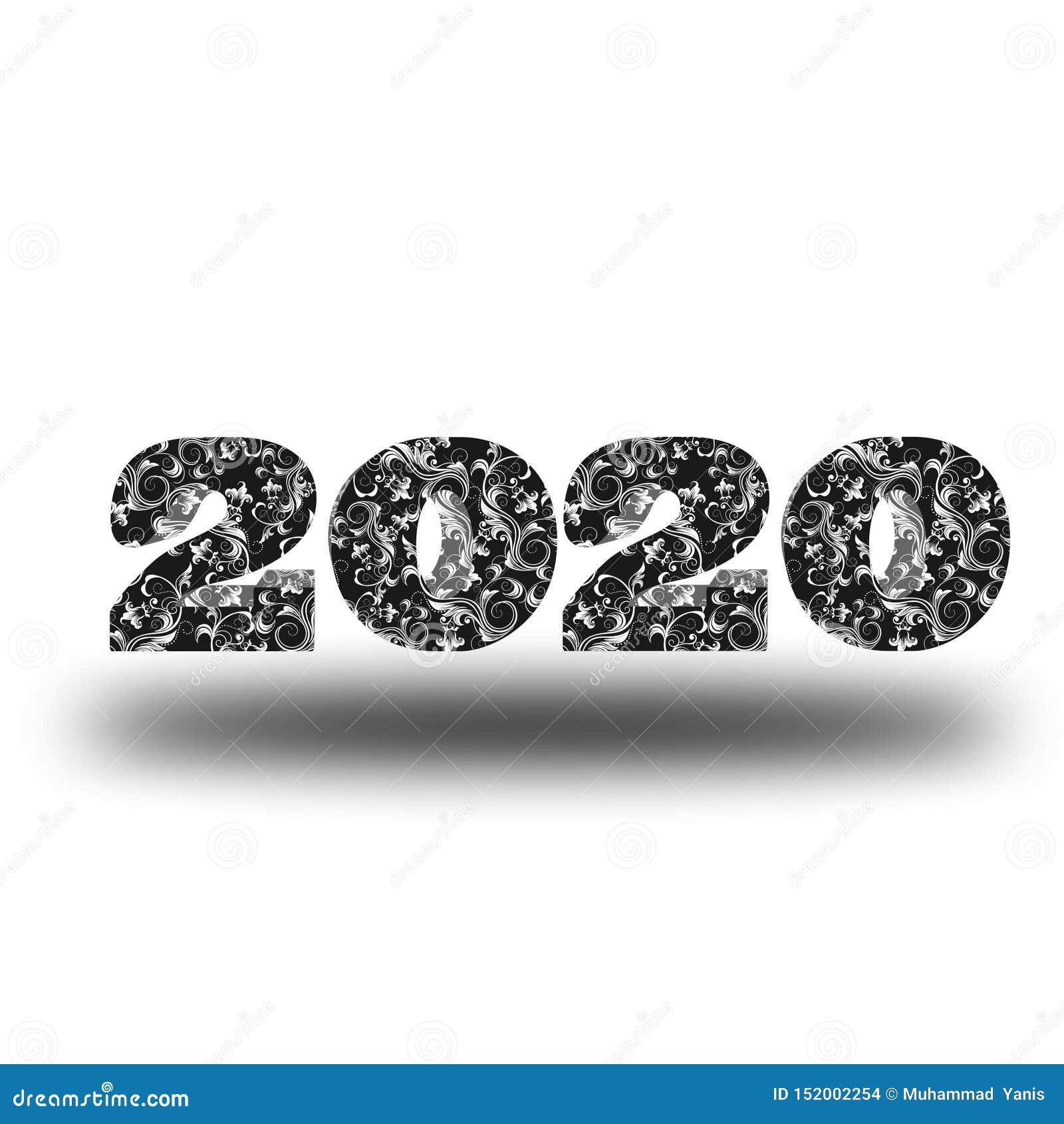 传染媒介新年快乐2020 m