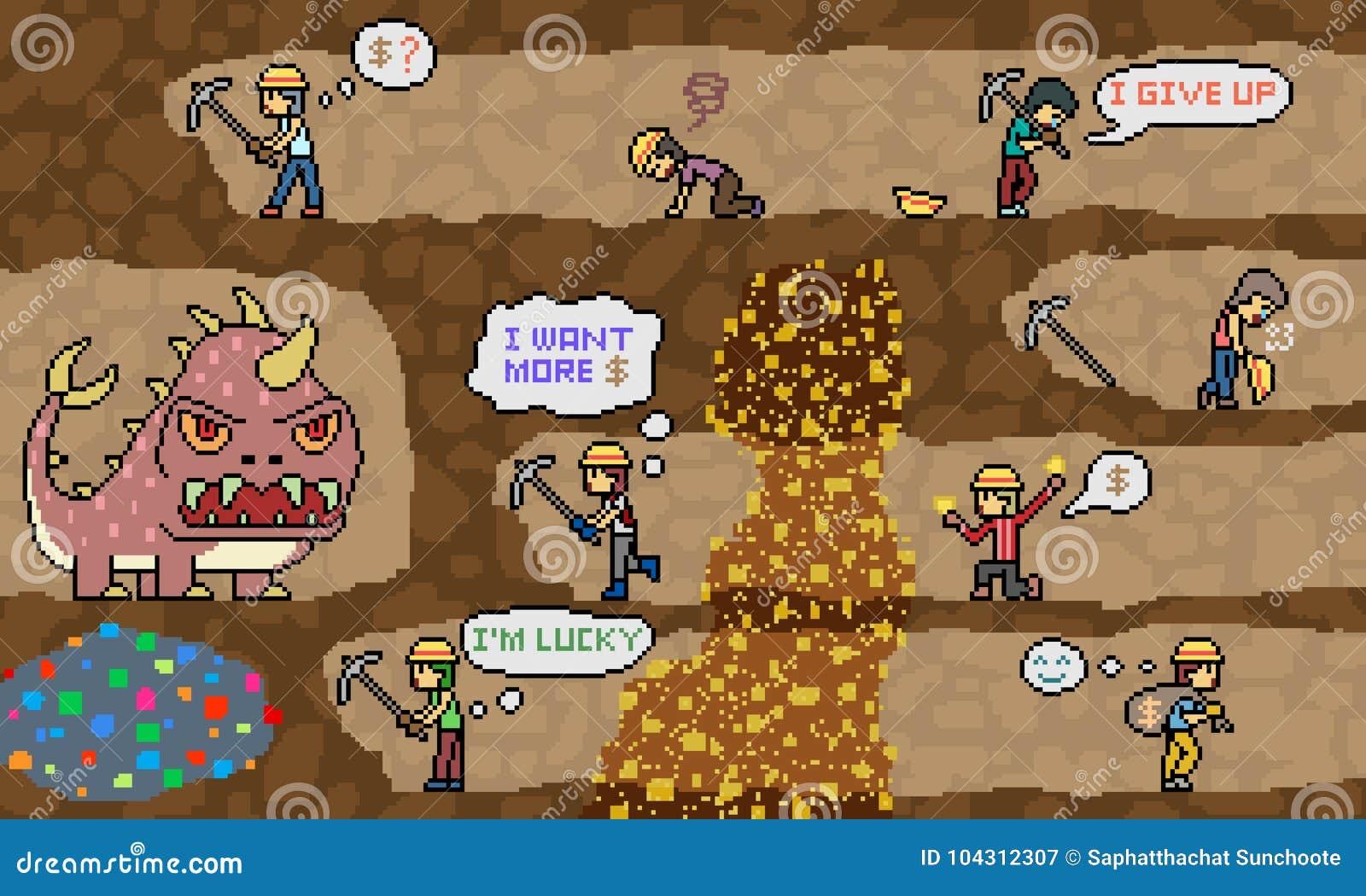 传染媒介映象点艺术矿开掘场面