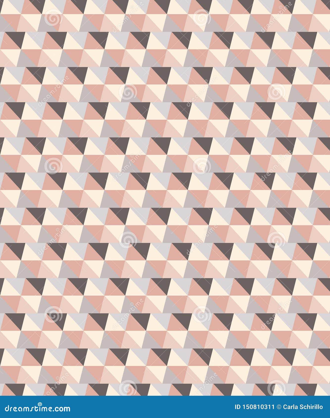 传染媒介桃红色和灰色口气几何无缝的三角样式