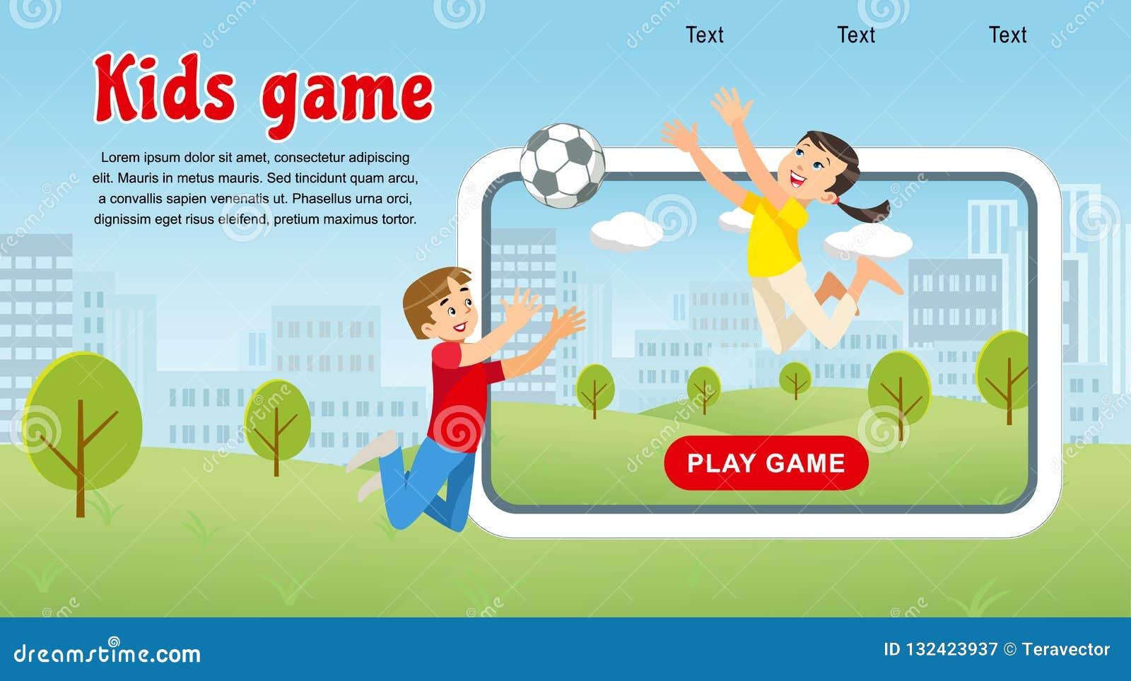 传染媒介概念图象愉快的孩子比赛足球