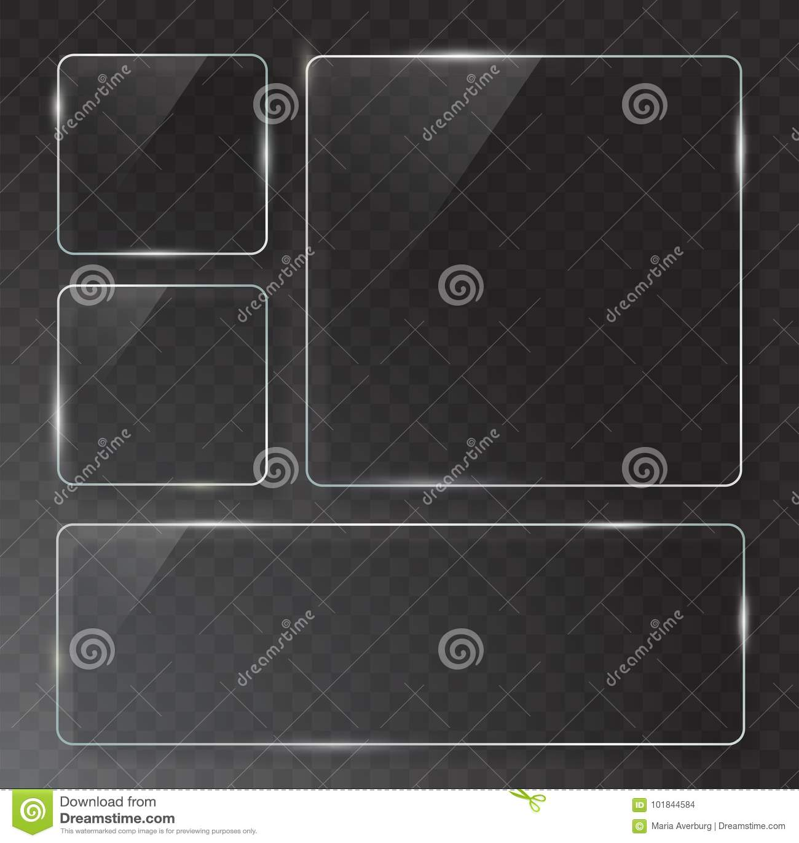 传染媒介现代透明玻璃板在样品背景设置了