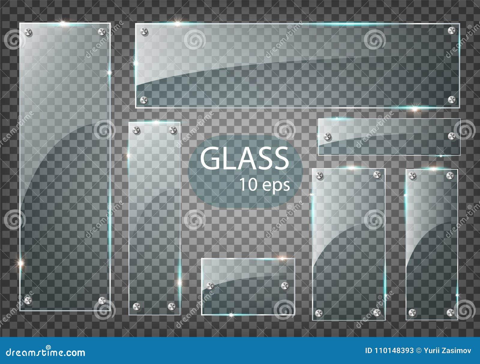 传染媒介现代透明玻璃板在样品背景设置了 EPS10