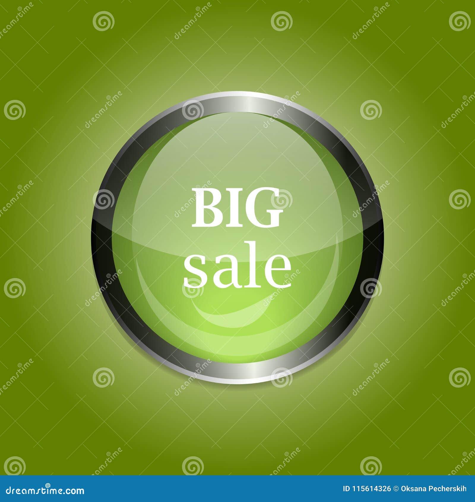 传染媒介玻璃按钮 按激活的大销售 对advertis