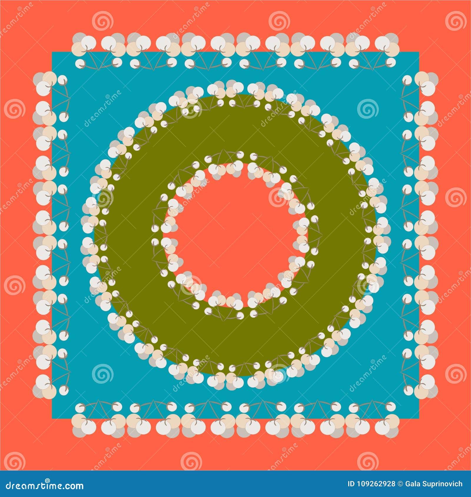传染媒介盖子设计 有花饰的方形的顶头围巾 导航瓦片,地毯,桌布织品,坐垫,枕头, b设计