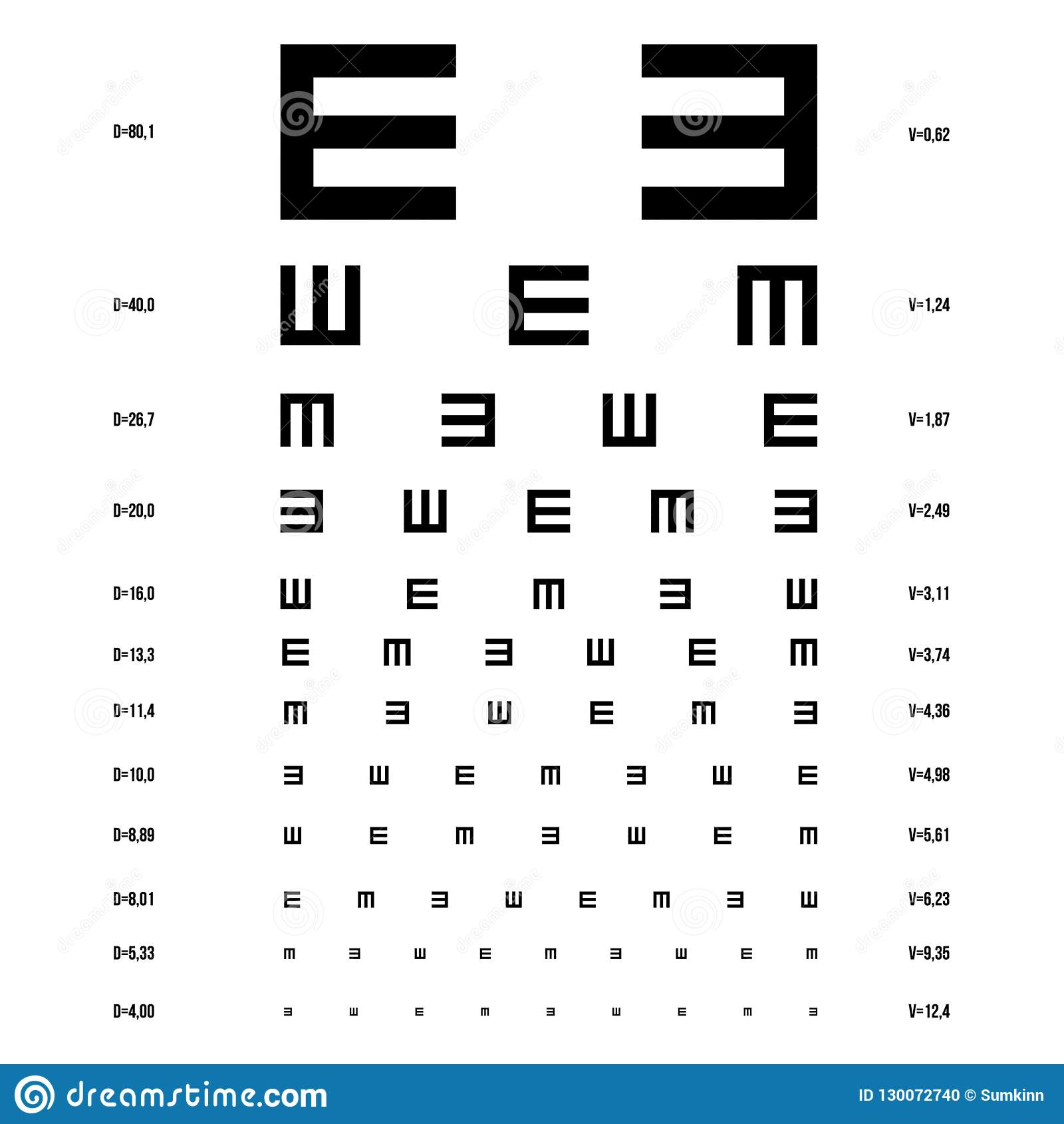 传染媒介眼睛测试图