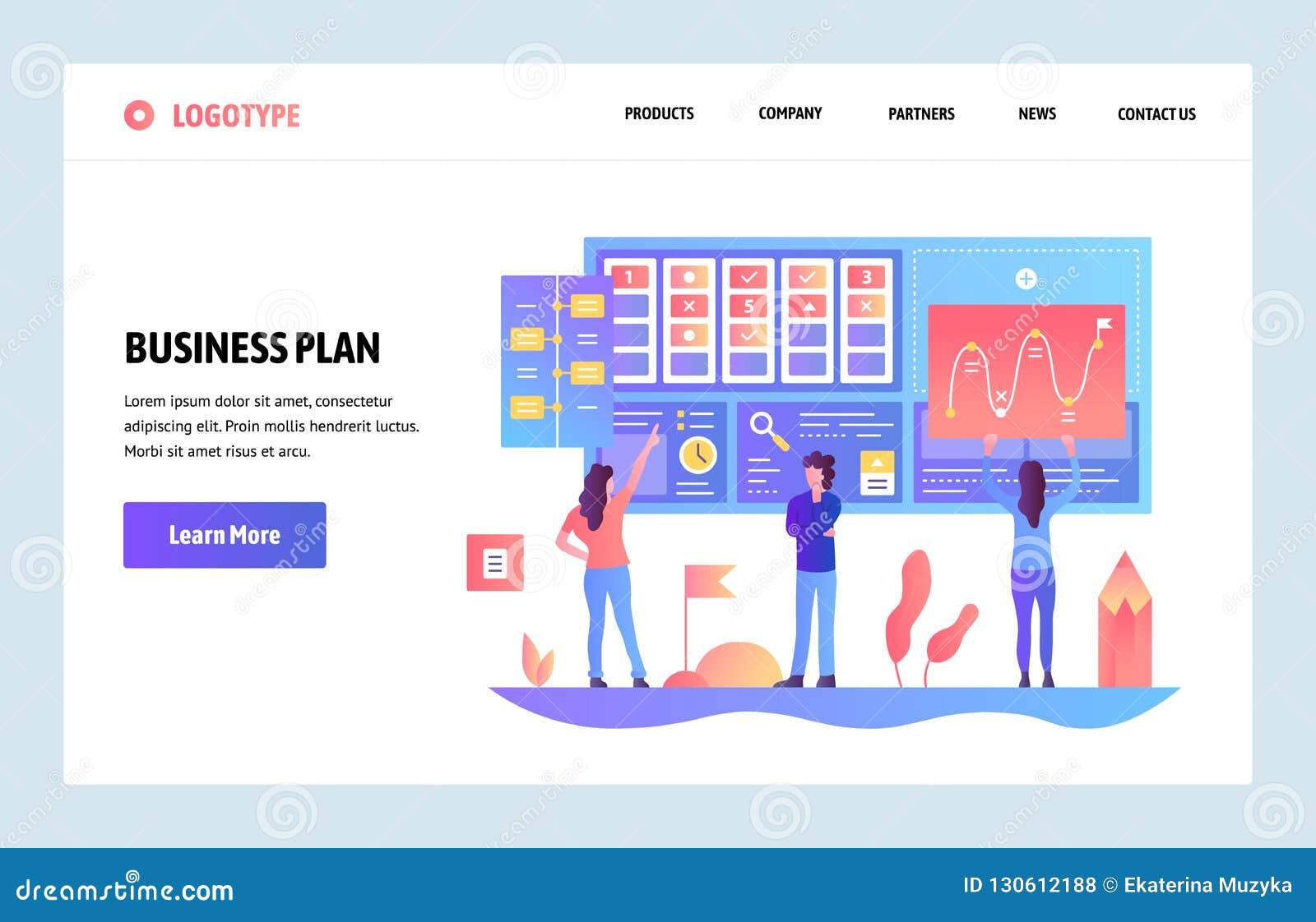 传染媒介网站梯度设计模板 经营计划和营销仪表板 着陆网站的页概念和