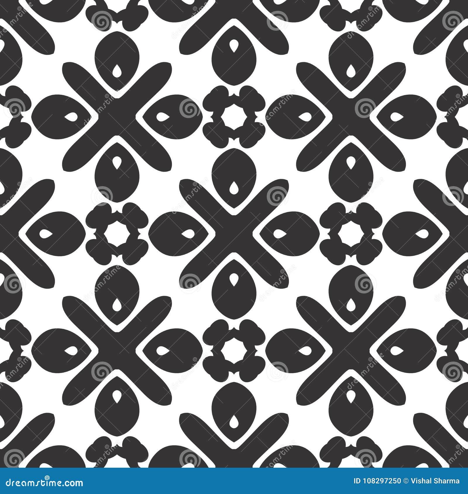 传染媒介黑白色重复设计