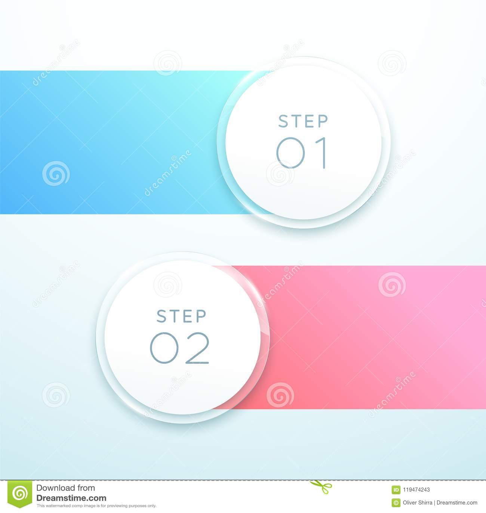 传染媒介3d圈子横幅2点Infographic名单设计
