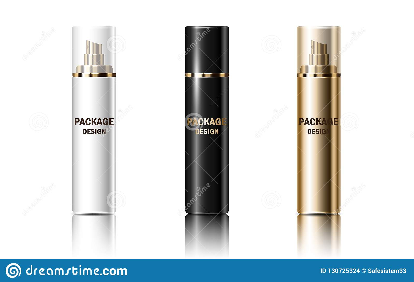 传染媒介3d设置了包装浪花,化妆用品产品的大模型光滑的现实瓶子容器 集气筒设计横幅,杂志
