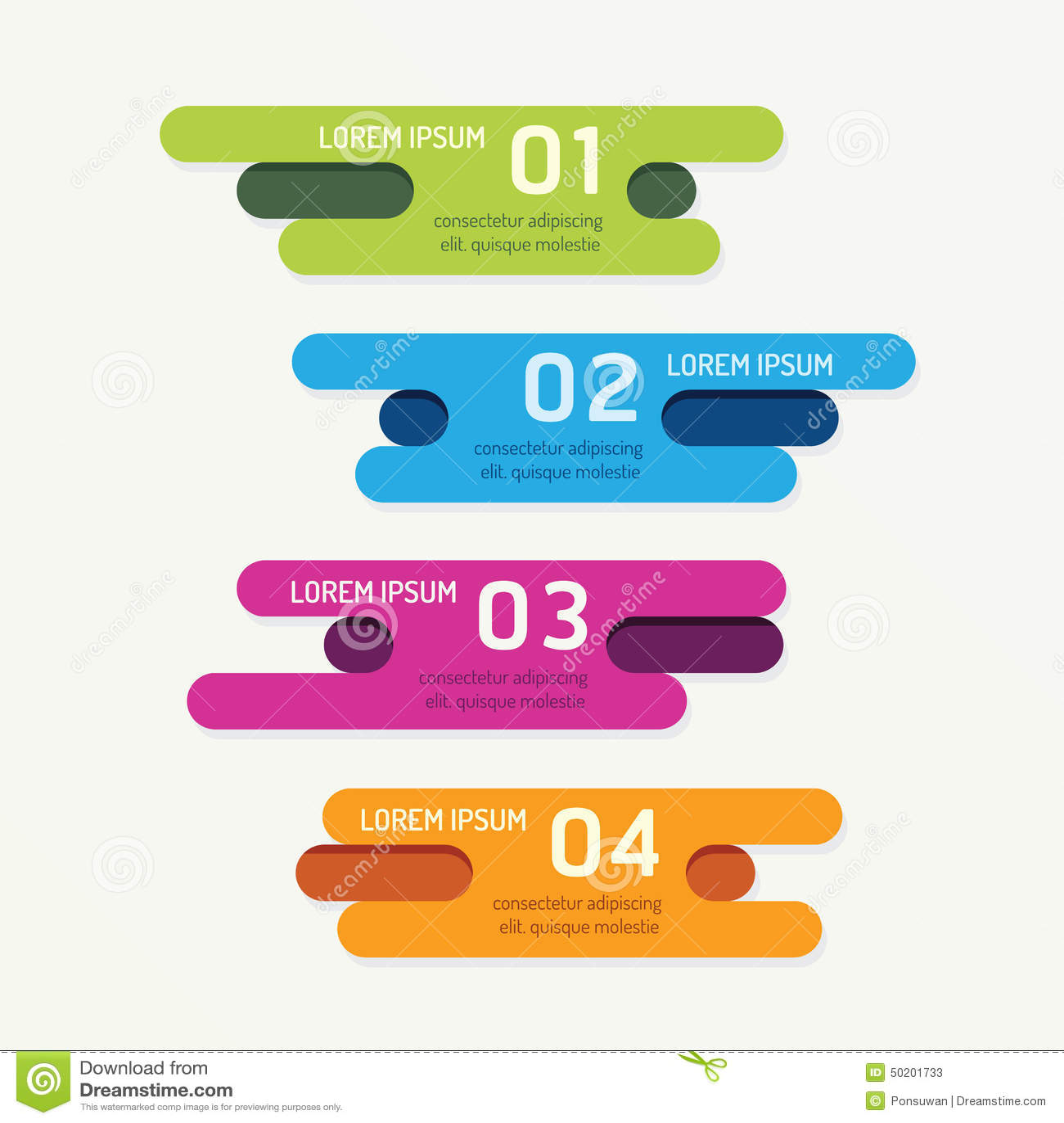 传染媒介与丝带五颜六色的标记的进展横幅