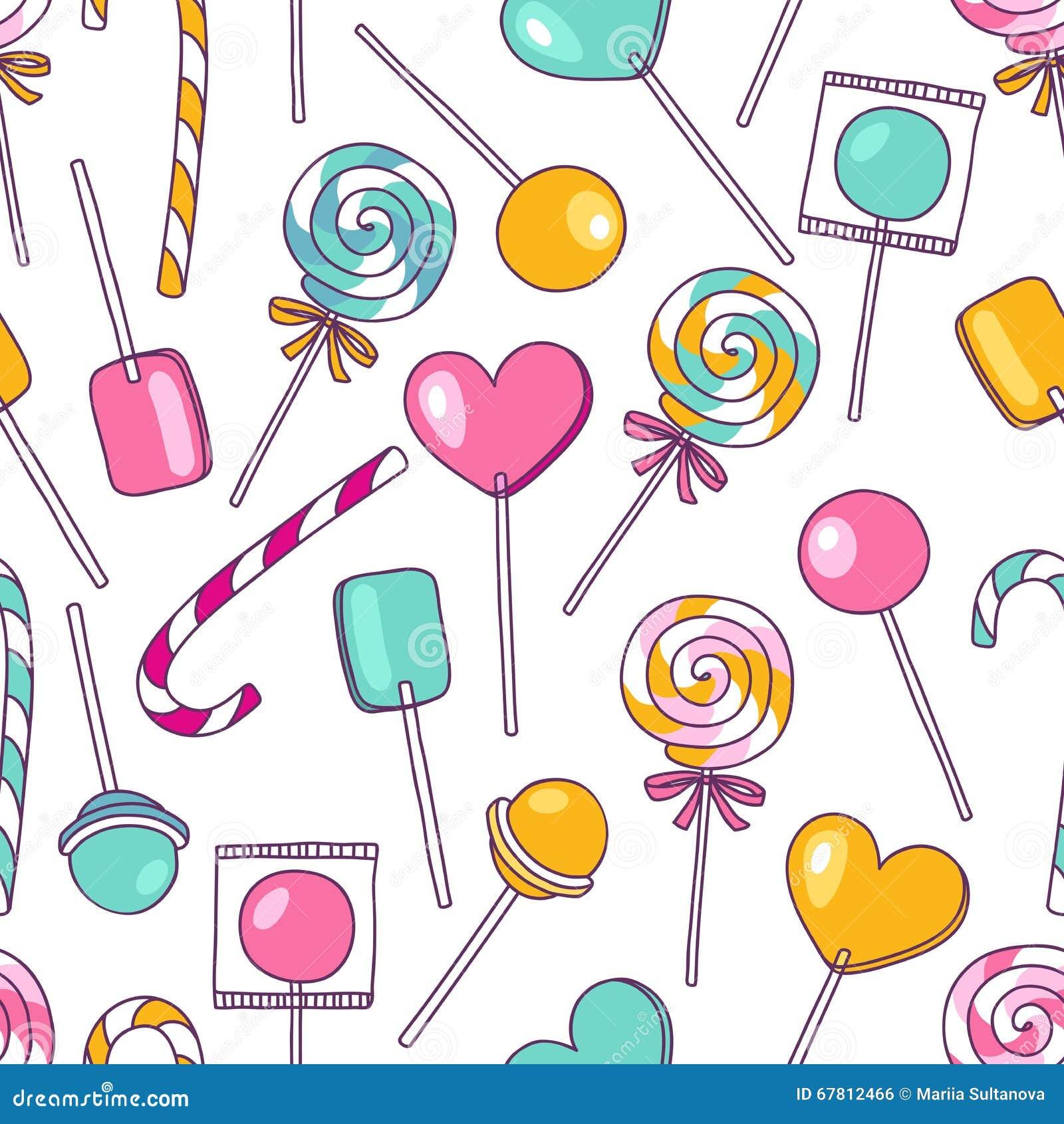 新欹il�(�yl#�(j_传染媒介乱画棒棒糖样式 明亮的甜食物手拉的il
