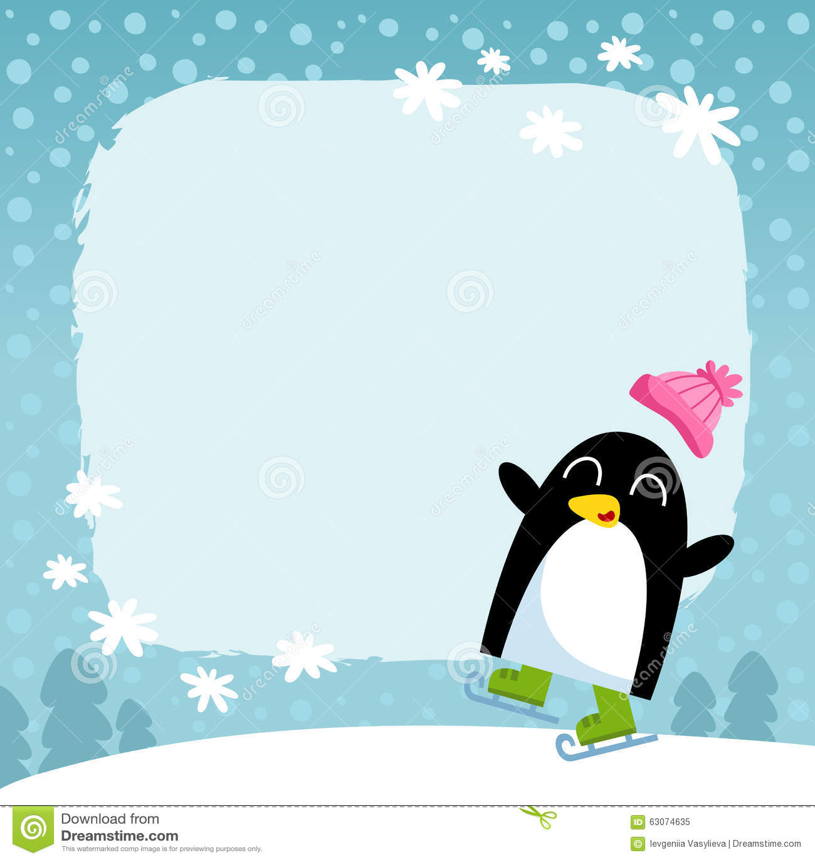 ppt冬天背景卡通图片展示图片