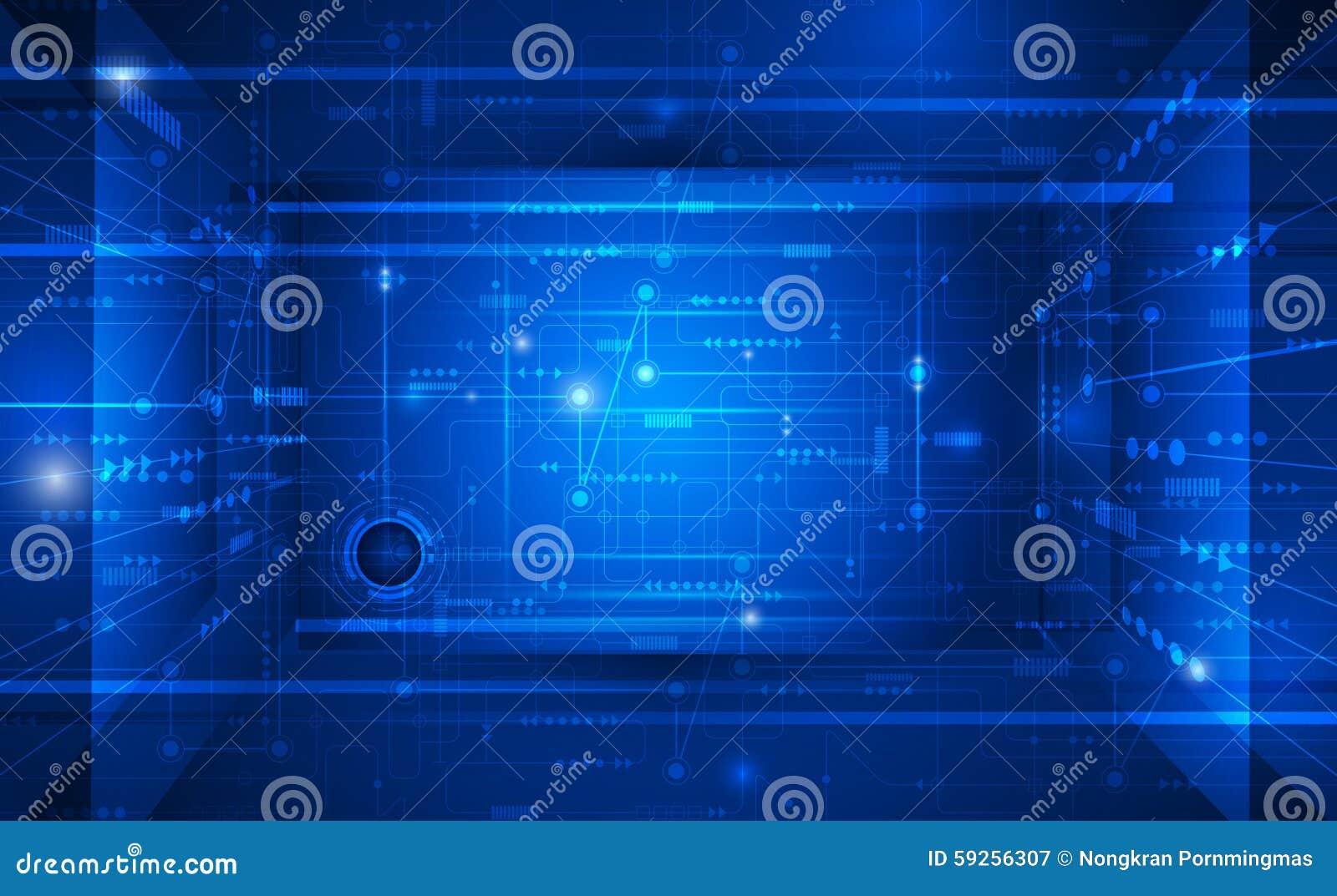 色中导航色_导航例证抽象未来派电路板,在深蓝颜色背景的高计算机科技 高科技