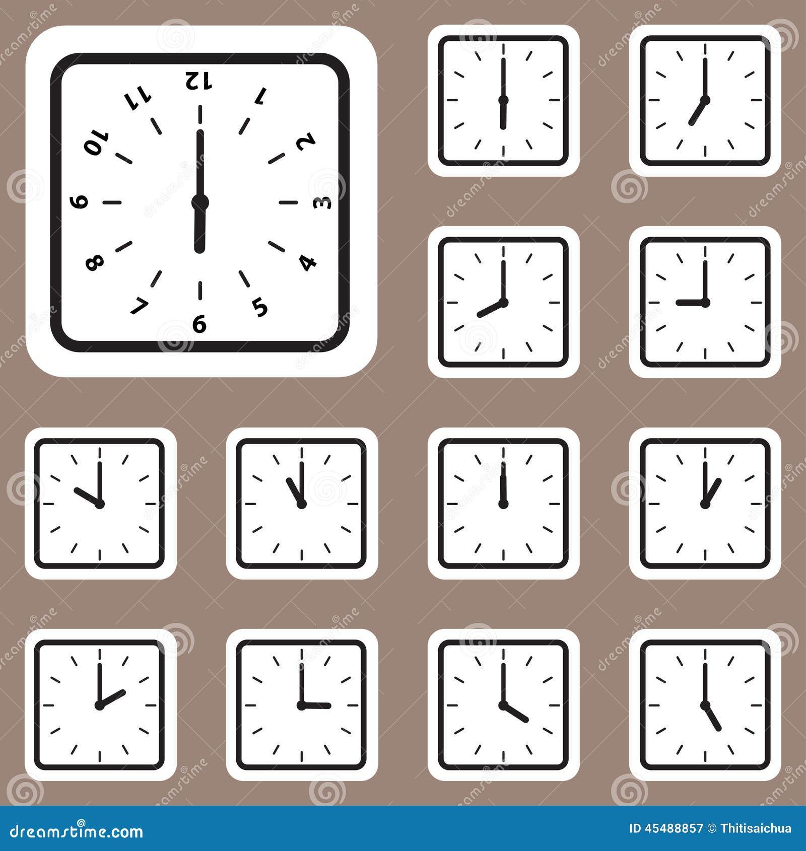 传染媒介例证,创造性和设计工作的时钟象