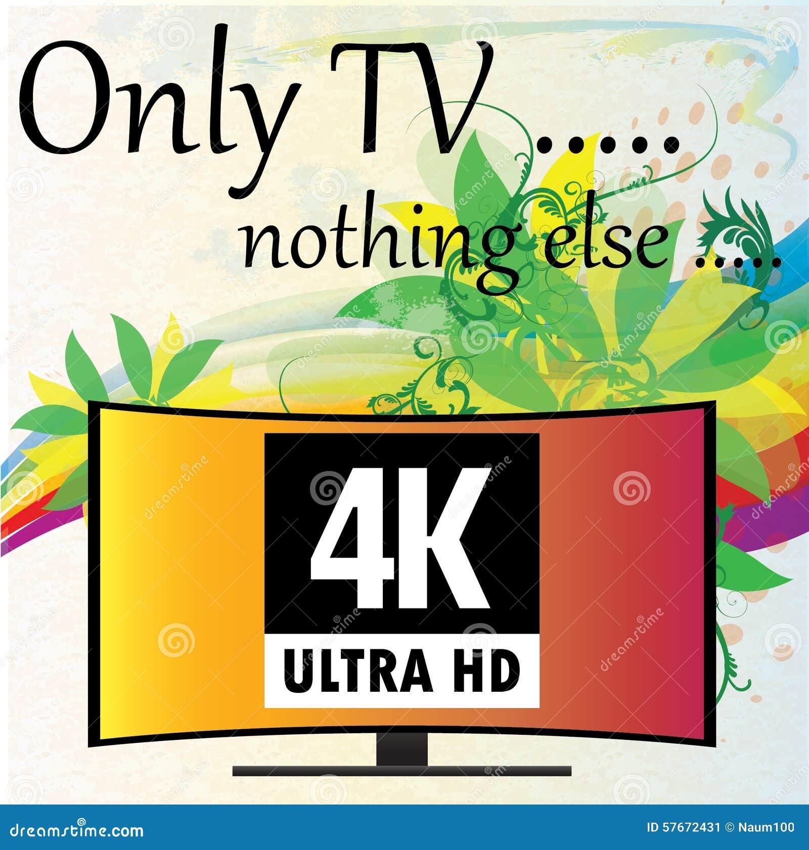 传染媒介例证-与花的背景, 4K电视
