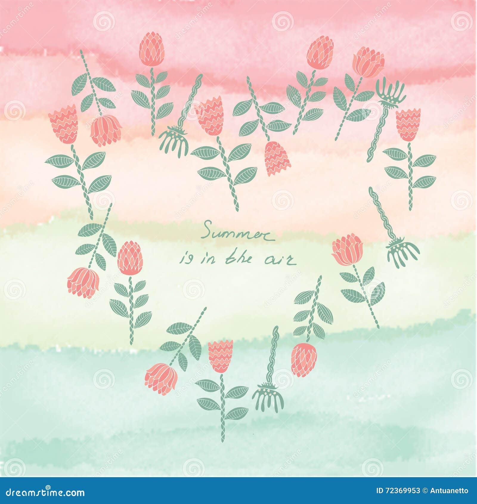 传染媒介创造性的花卉普遍卡片
