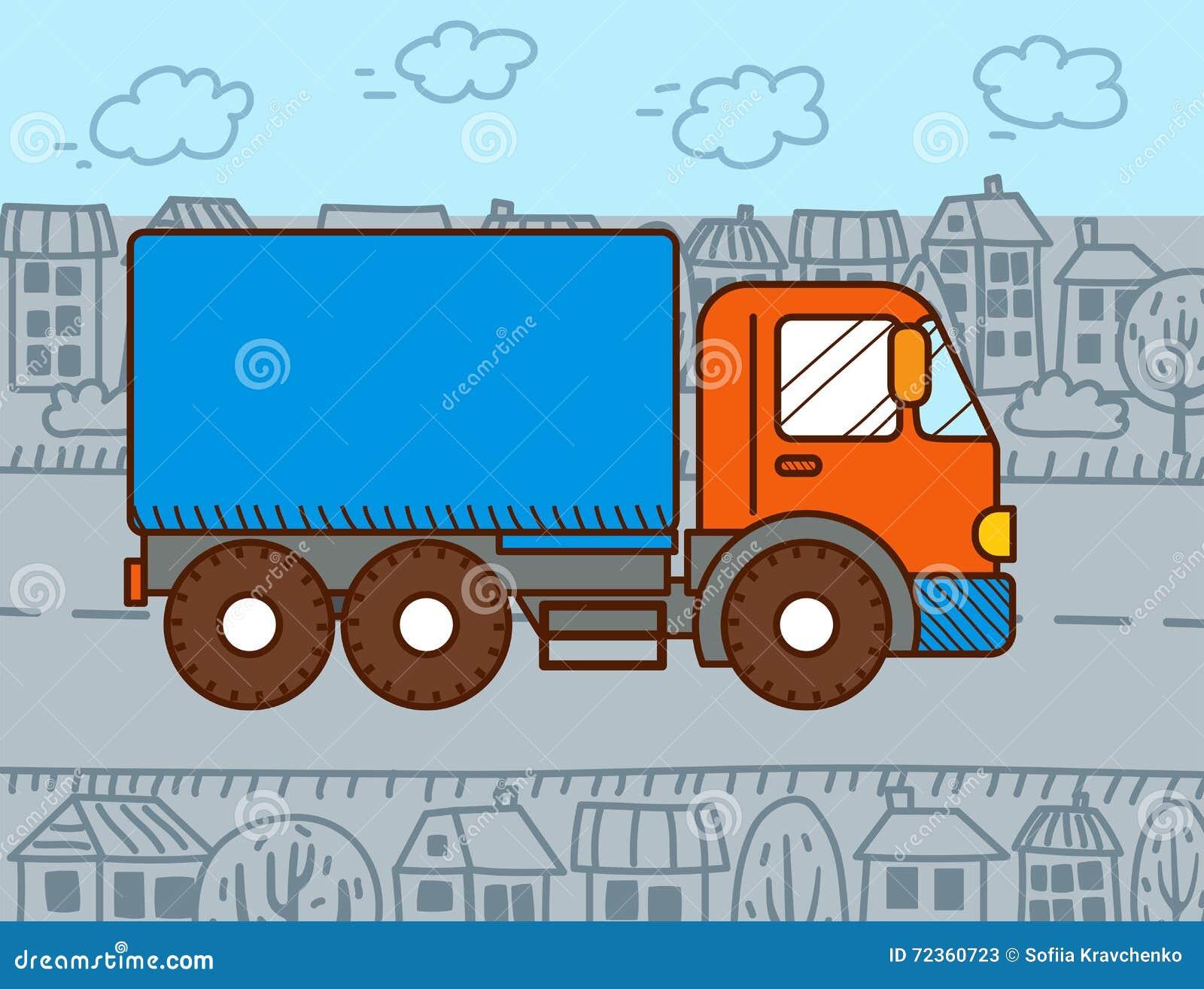 传染媒介动画片卡车
