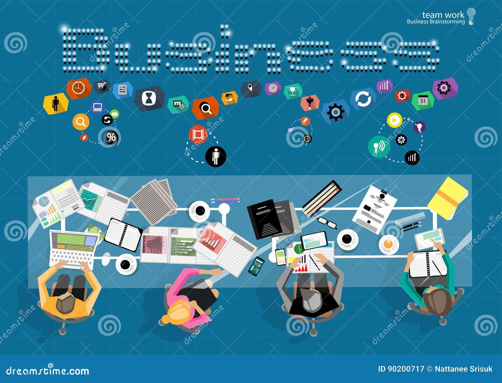 传染媒介商人激发灵感 平的项目管理经营分析和plann的设计现代传染媒介例证概念